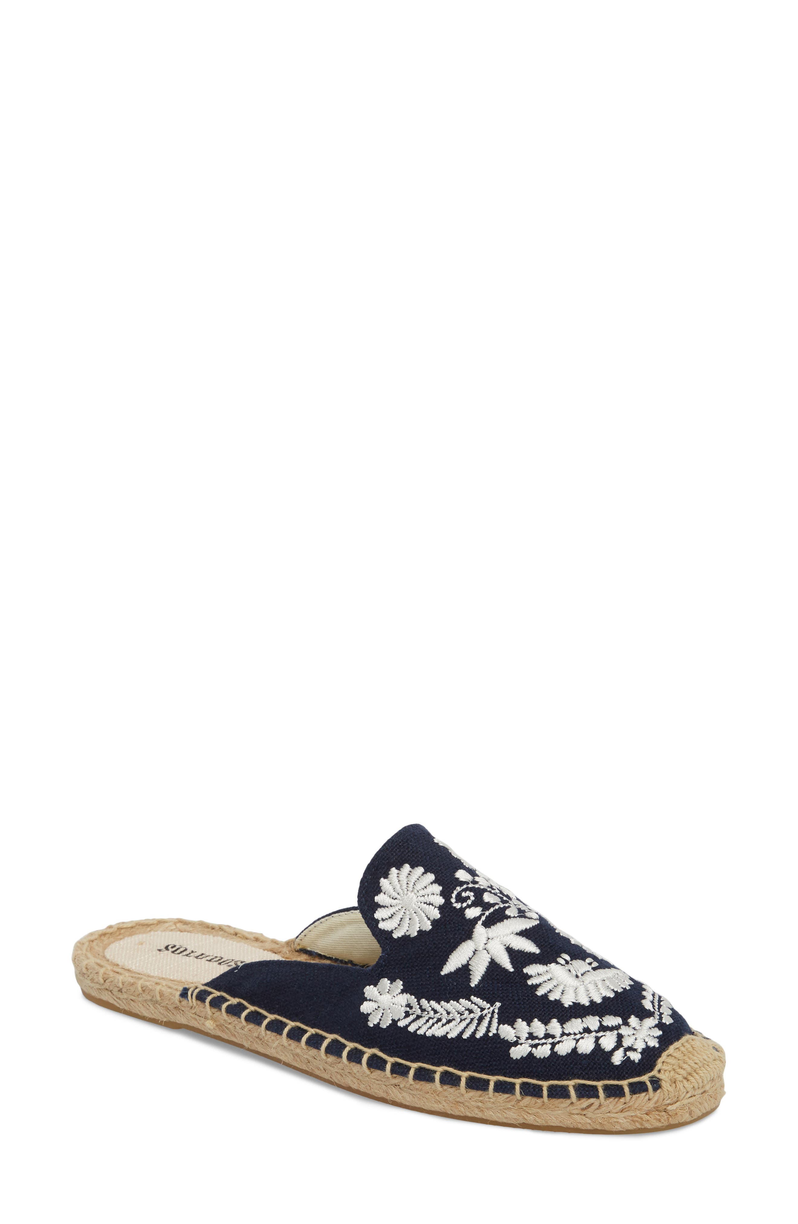 Ibiza Espadrille Mule,                             Main thumbnail 1, color,                             MIDNIGHT BLUE CANVAS