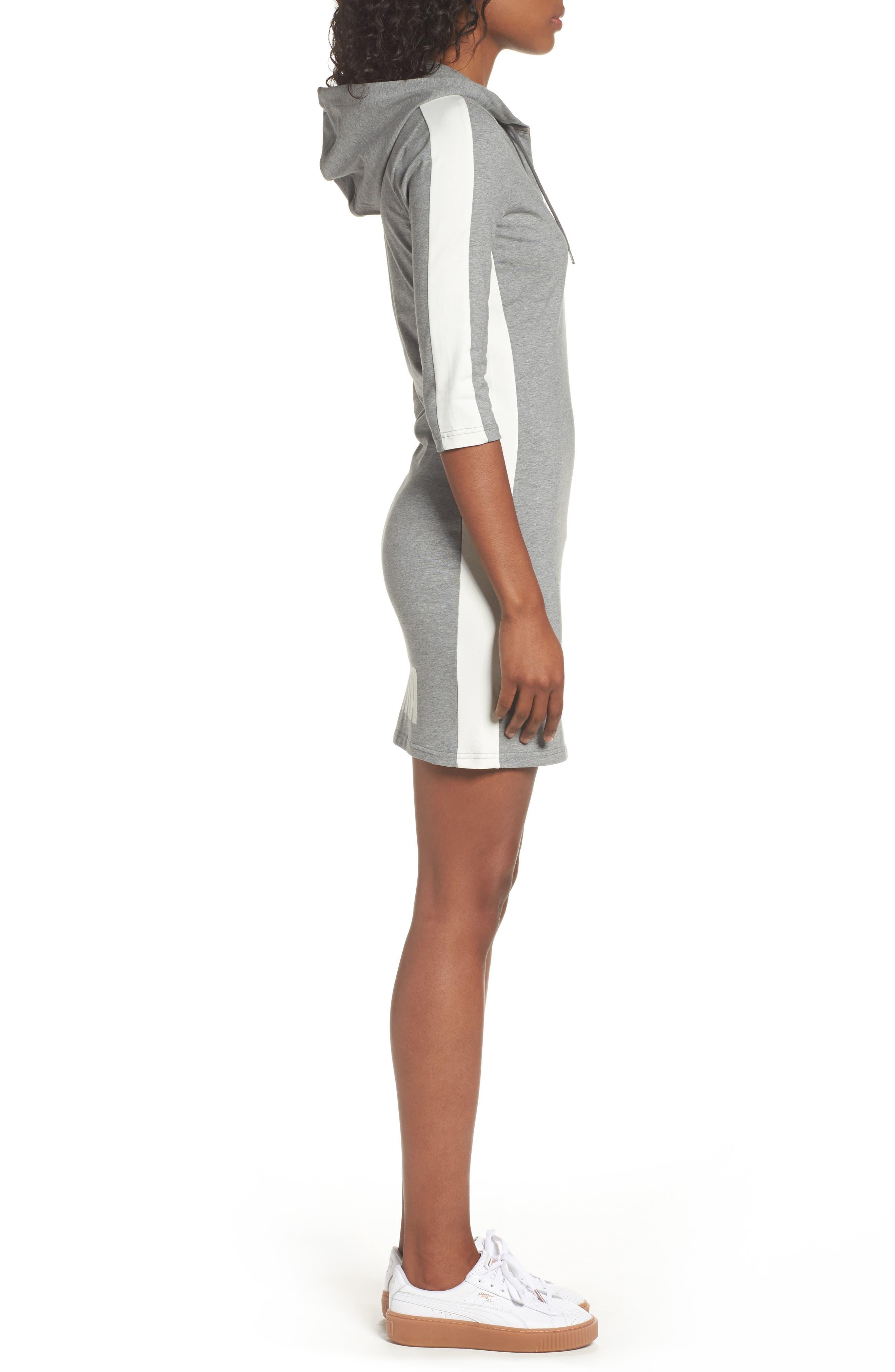 T7 Sweatshirt Dress,                             Alternate thumbnail 12, color,