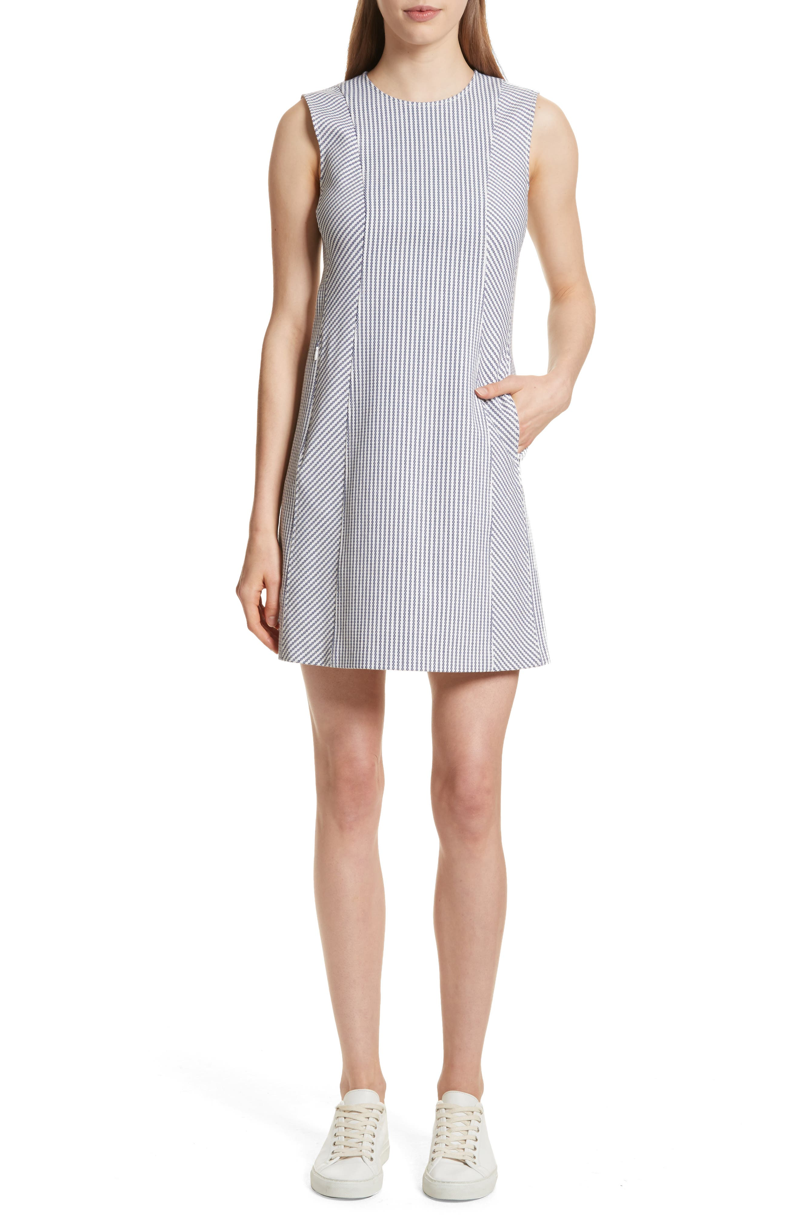 Helaina Sayre Stripe A-Line Dress,                             Main thumbnail 1, color,