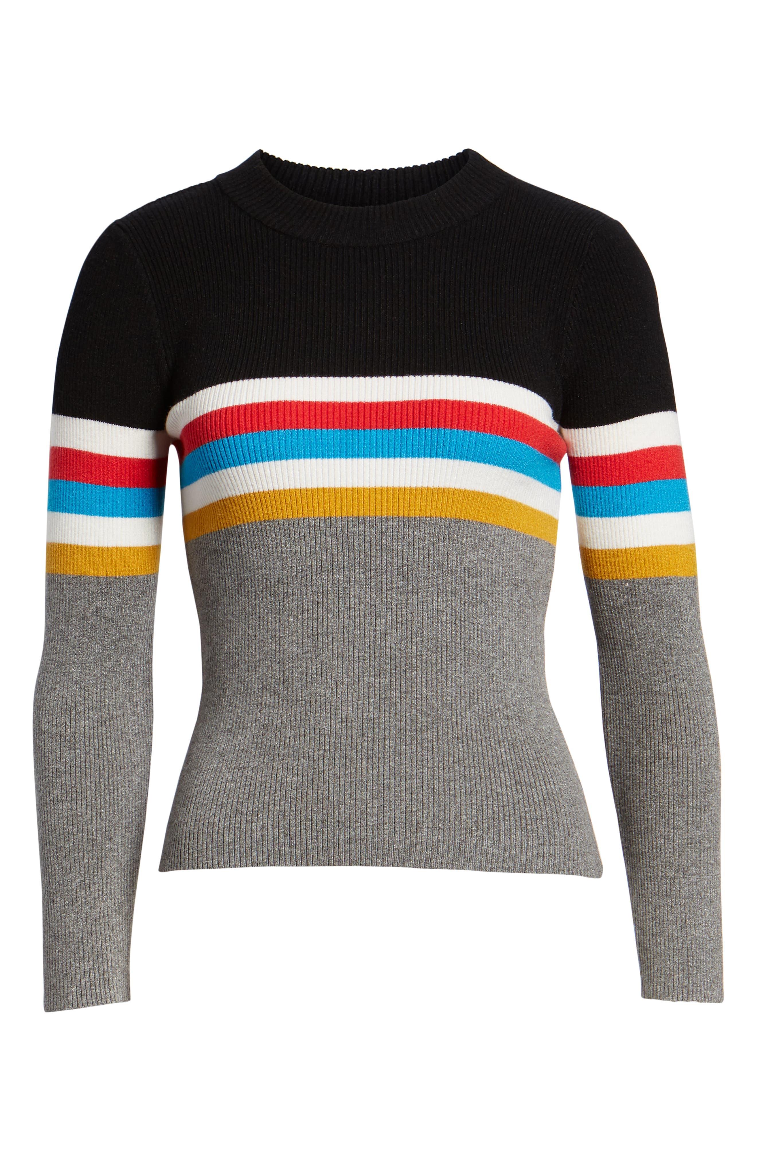 Stripe Sweater,                             Alternate thumbnail 6, color,                             038