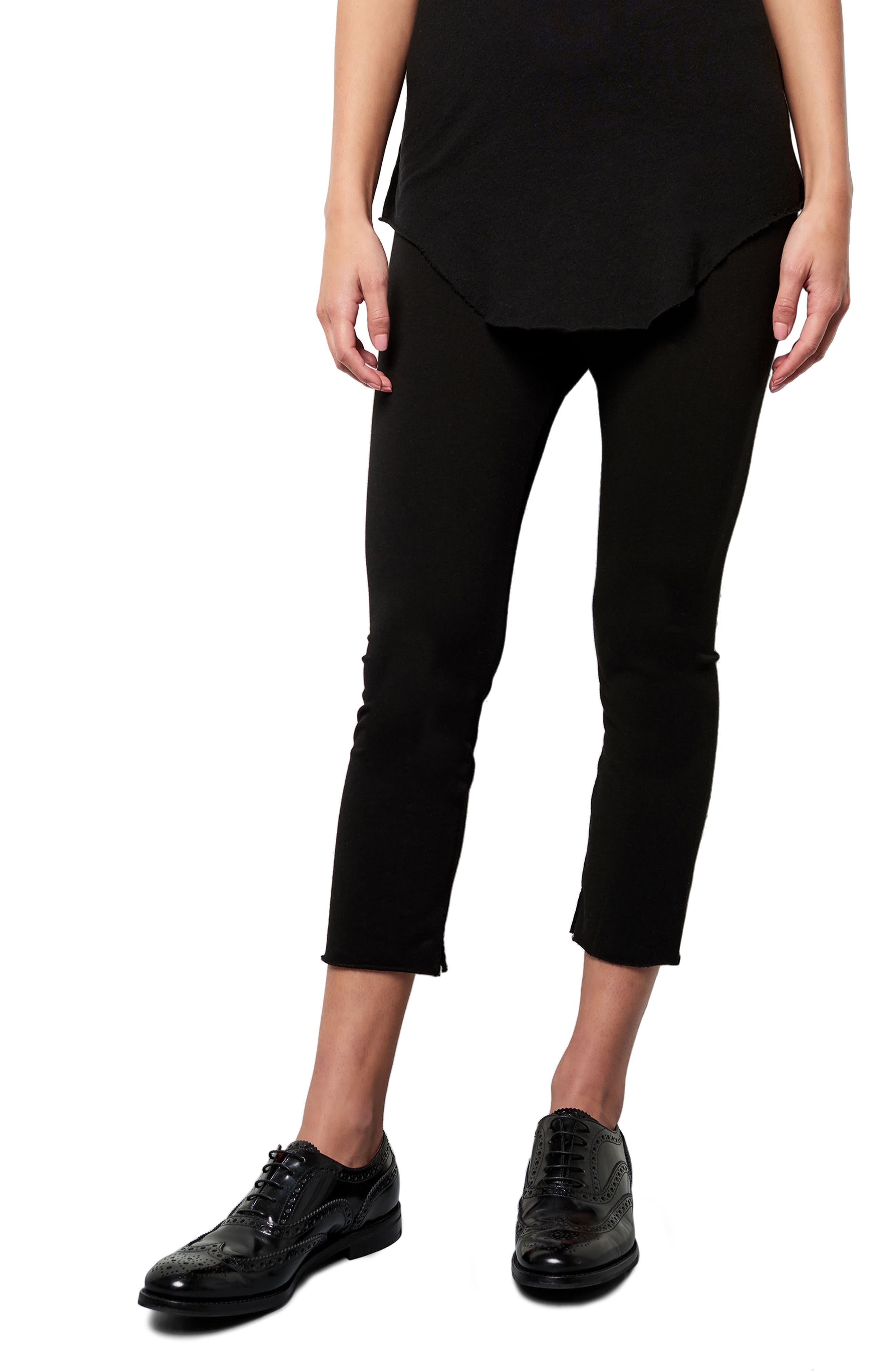 Crop Leggings,                         Main,                         color, BLACKOUT