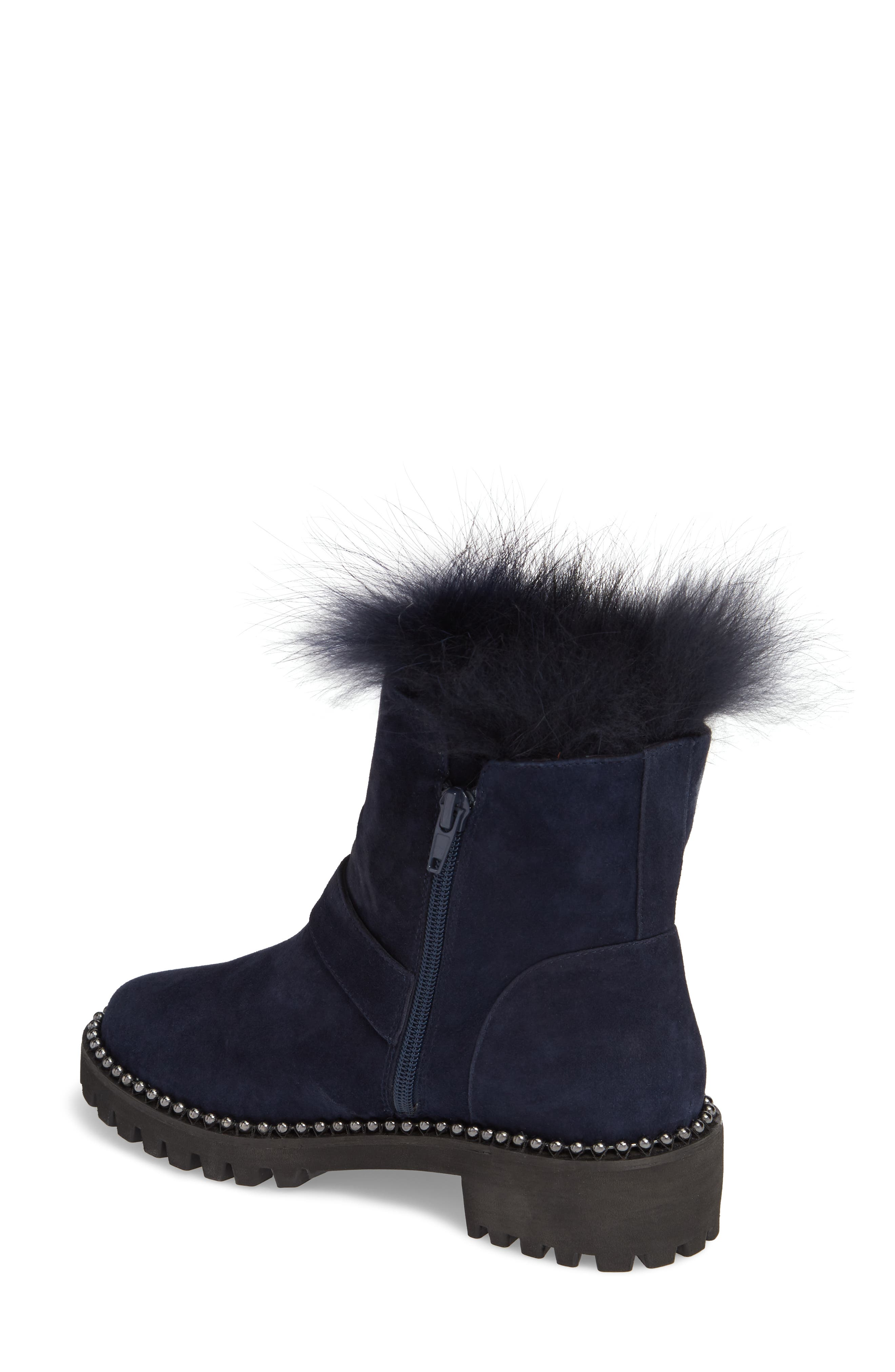 Theresa Boot with Genuine Fox Fur Trim,                             Alternate thumbnail 4, color,
