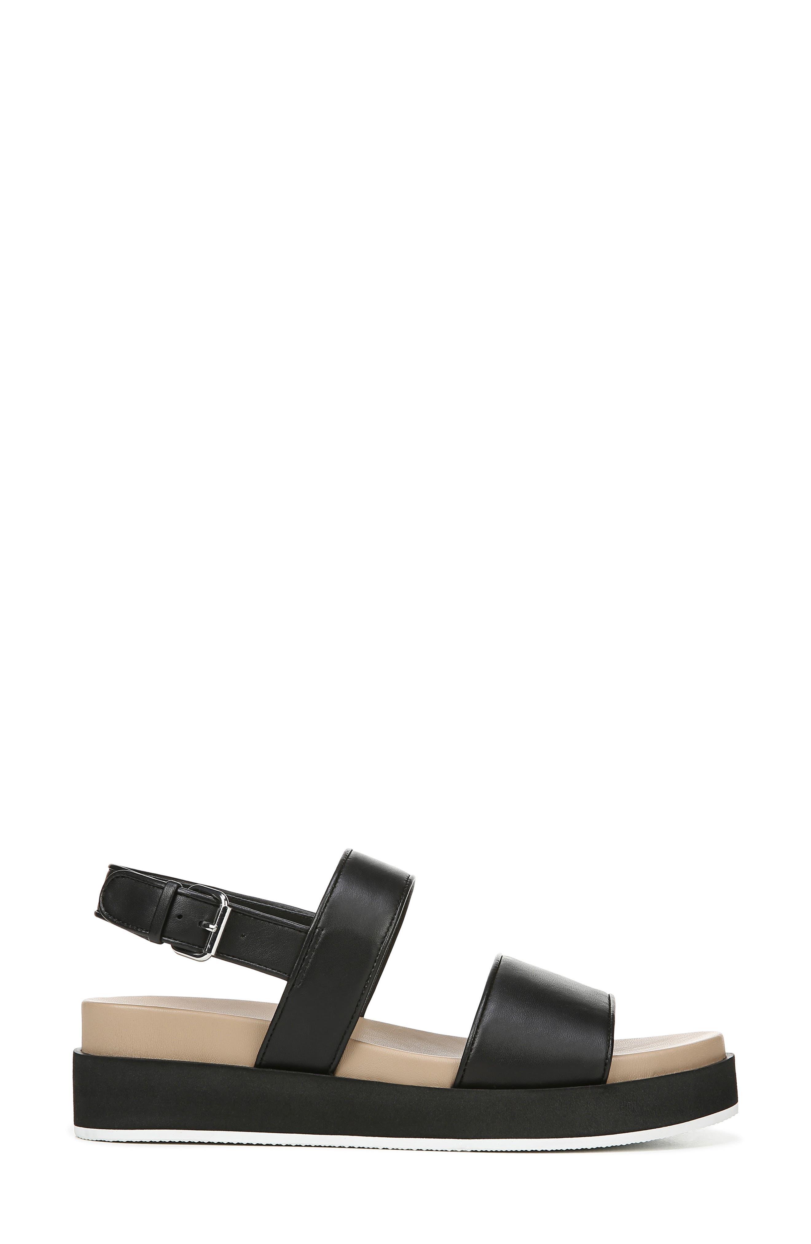 VIA SPIGA,                             Davi Platform Sandal,                             Alternate thumbnail 3, color,                             BLACK