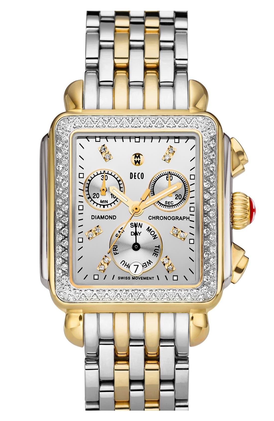 'Deco Diamond' Diamond Dial Two-Tone Watch Case, 33mm x 35mm,                             Alternate thumbnail 2, color,                             710