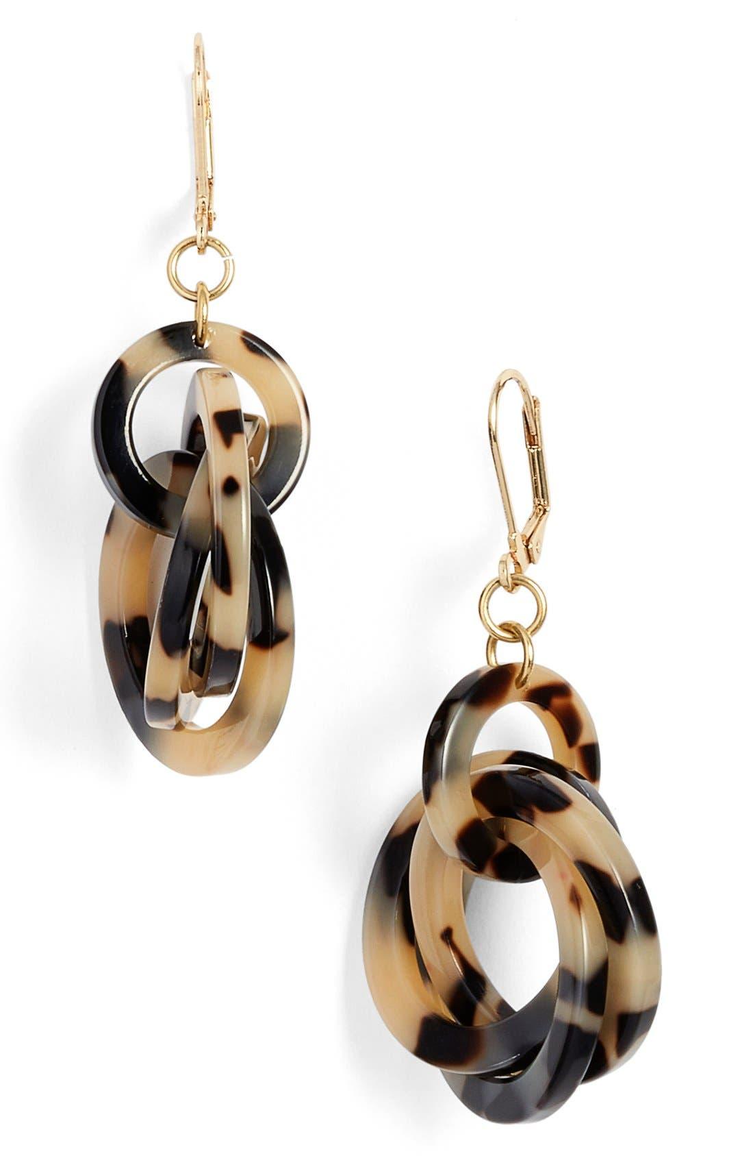 'Twisted Loops' Drop Earrings,                             Main thumbnail 4, color,