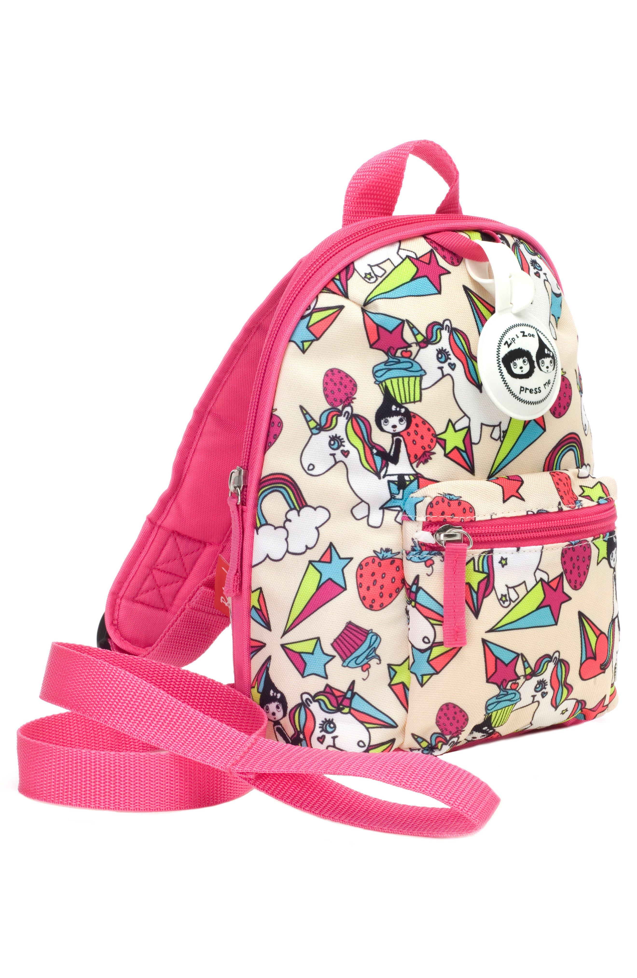 BABYMEL,                             Zip & Zoe Unicorn Mini Backpack,                             Alternate thumbnail 4, color,                             UNICORN