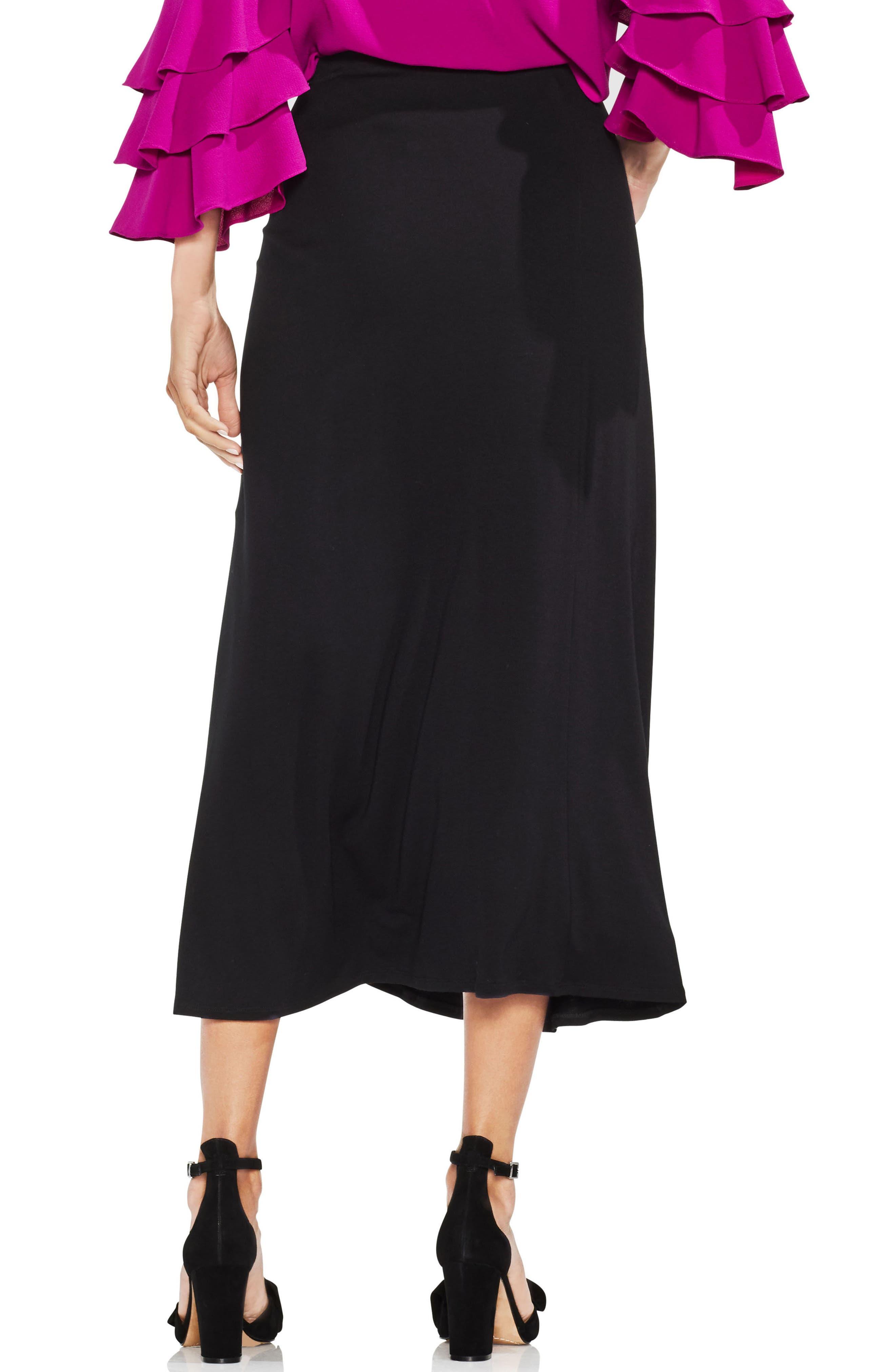Twist Tie Front Maxi Skirt,                             Alternate thumbnail 2, color,                             001