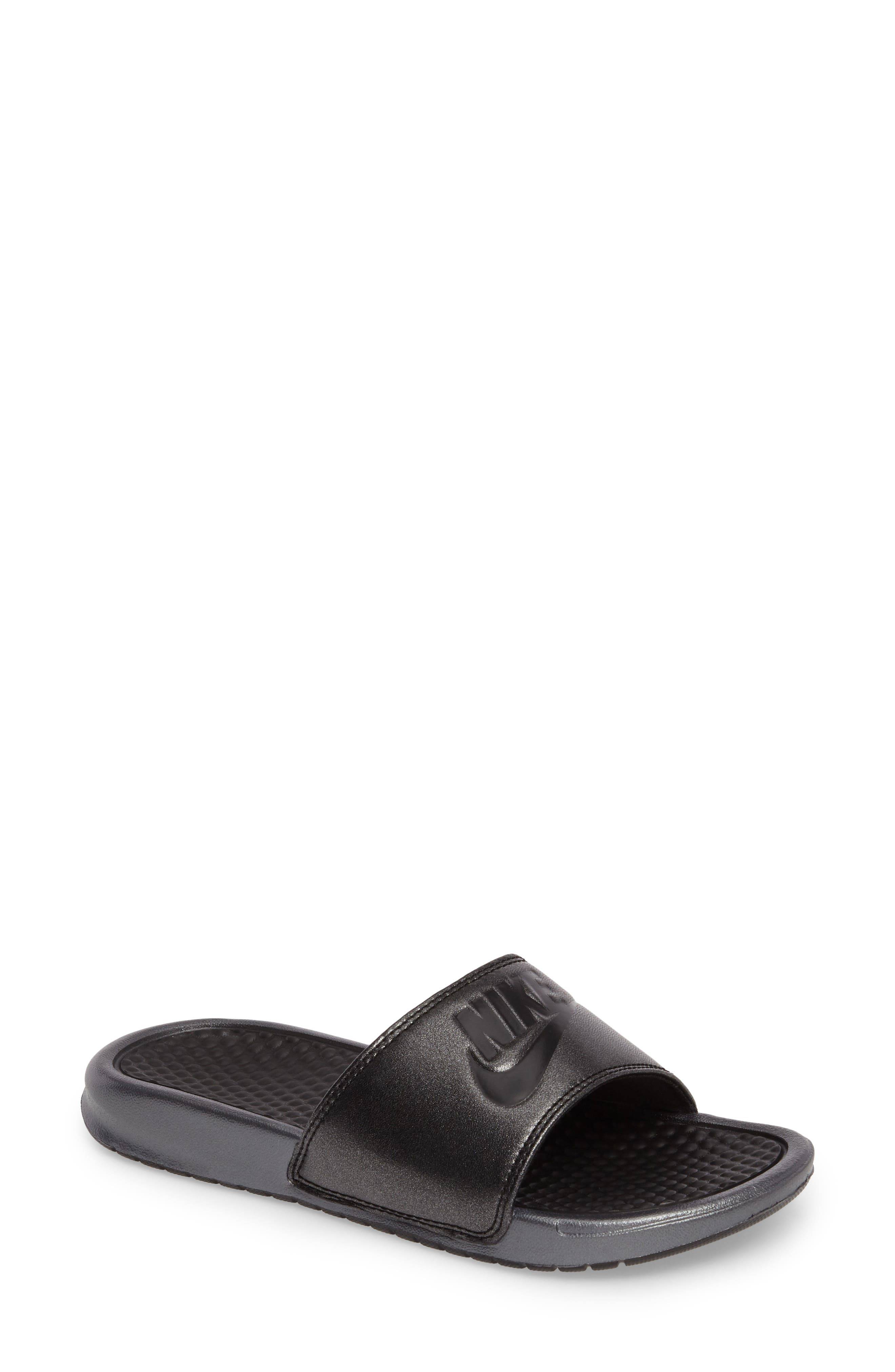 Benassi Slide Sandal,                             Main thumbnail 1, color,                             001