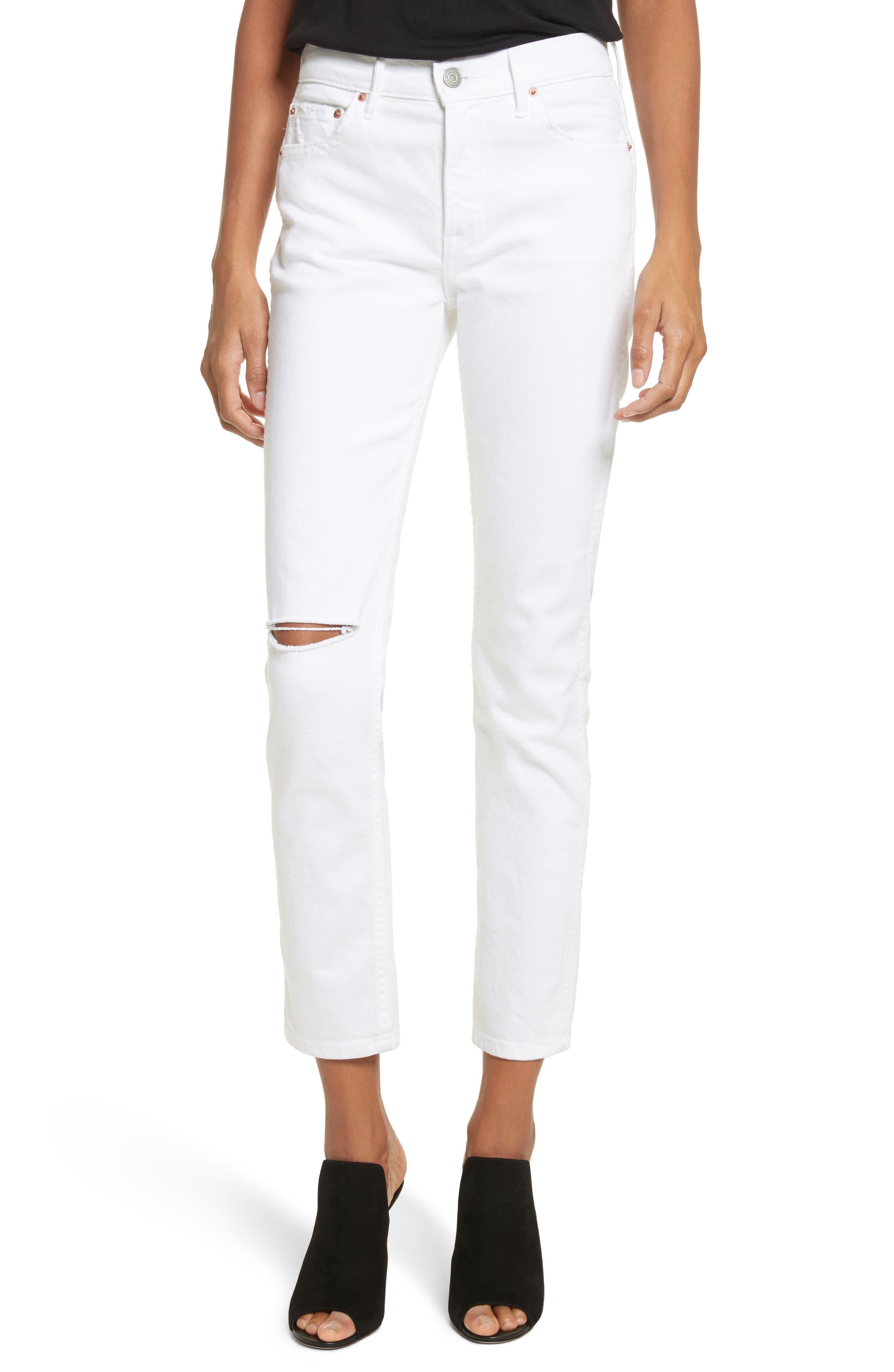 Naomi High Waist Skinny Jeans,                             Main thumbnail 1, color,                             100