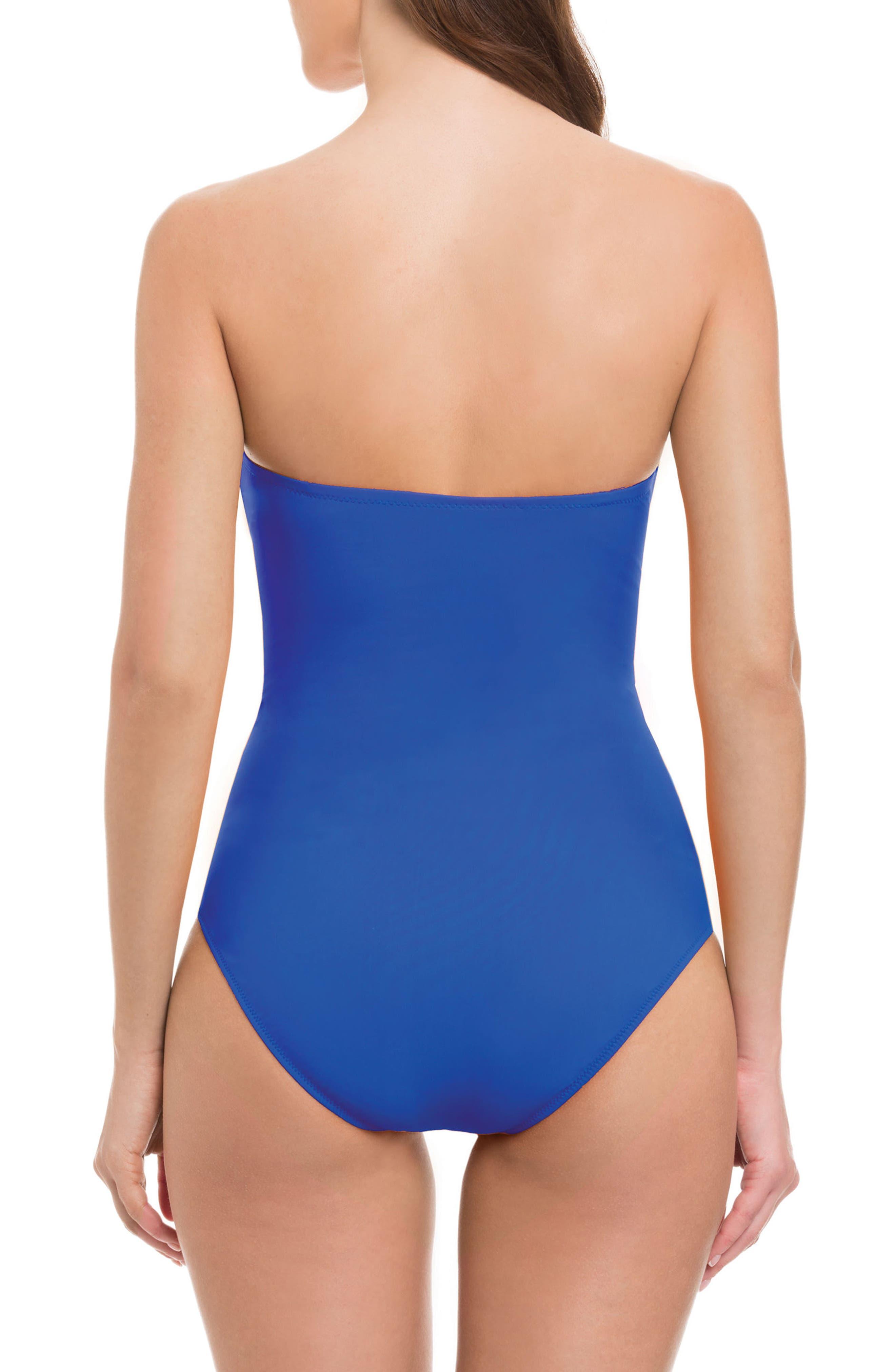 Bandeau One-Piece Swimsuit,                             Alternate thumbnail 2, color,