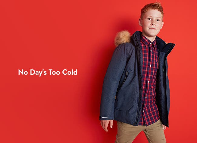 No day's too cold: boys' coats and jackets.
