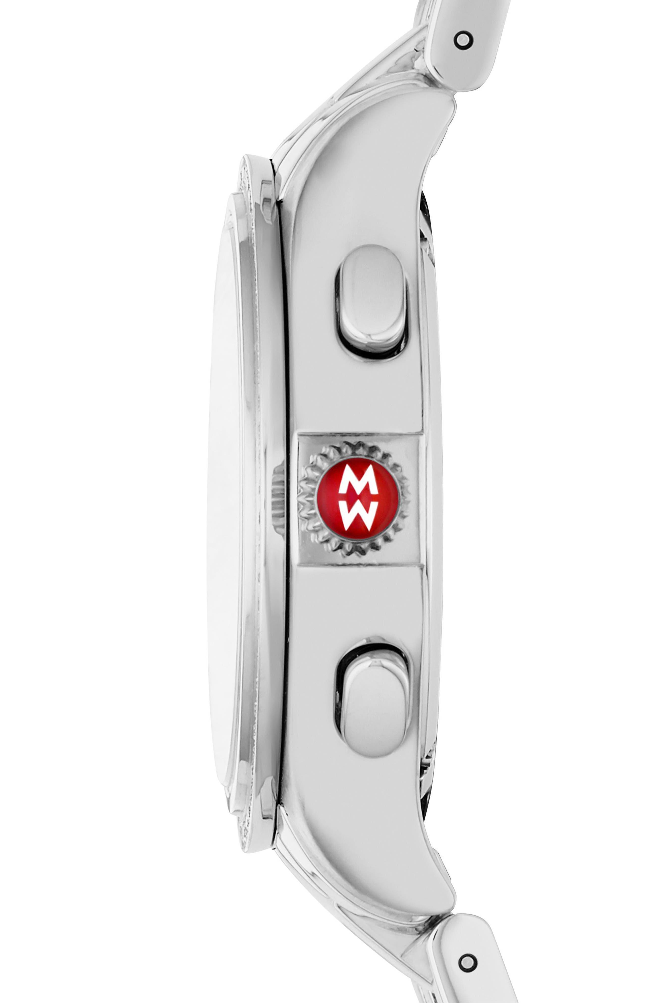Belmore Chrono Diamond Diamond Dial Watch Case, 37mm,                             Alternate thumbnail 2, color,                             040