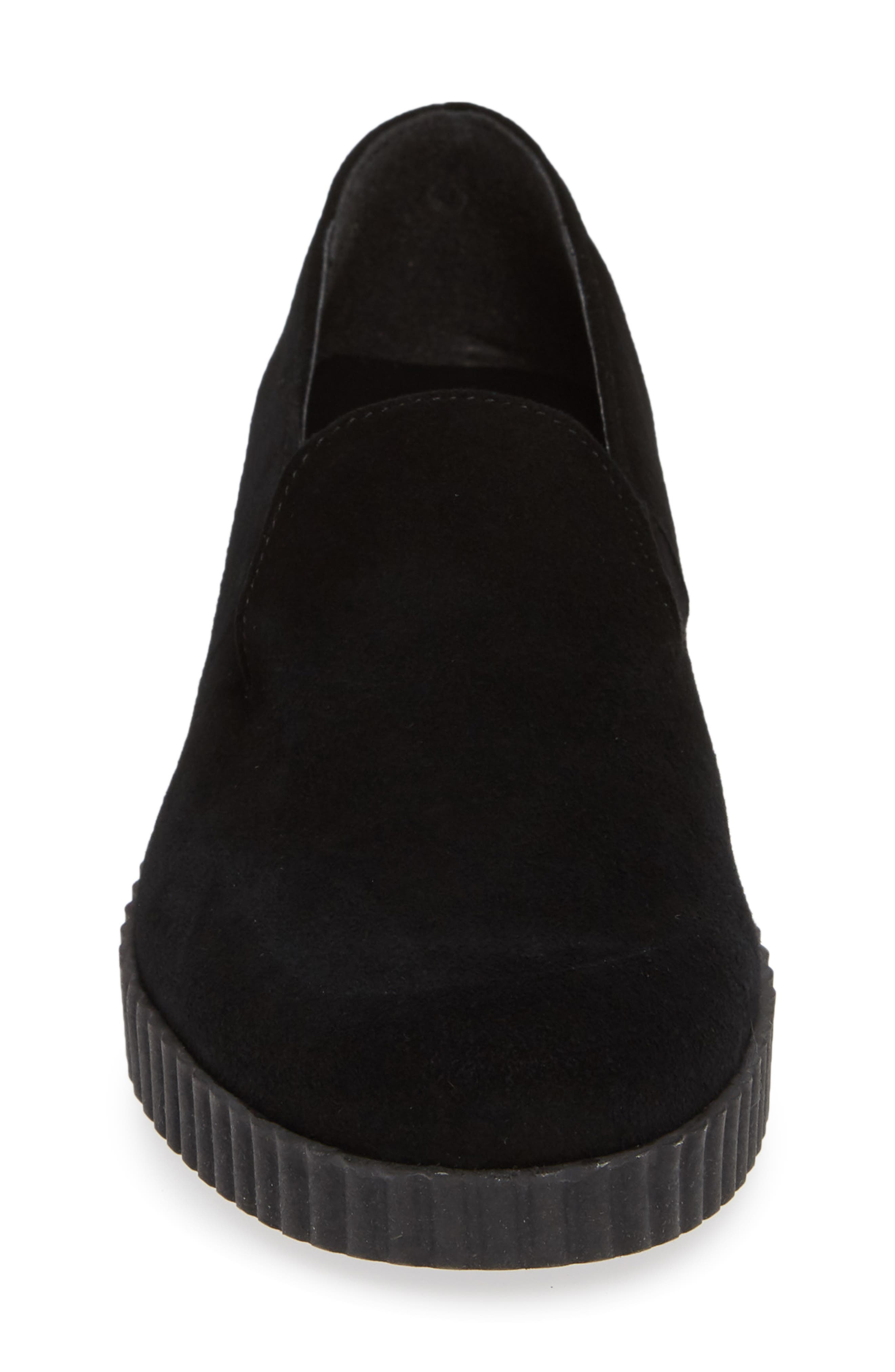 Fast Times Loafer,                             Alternate thumbnail 4, color,                             BLACK SUEDE