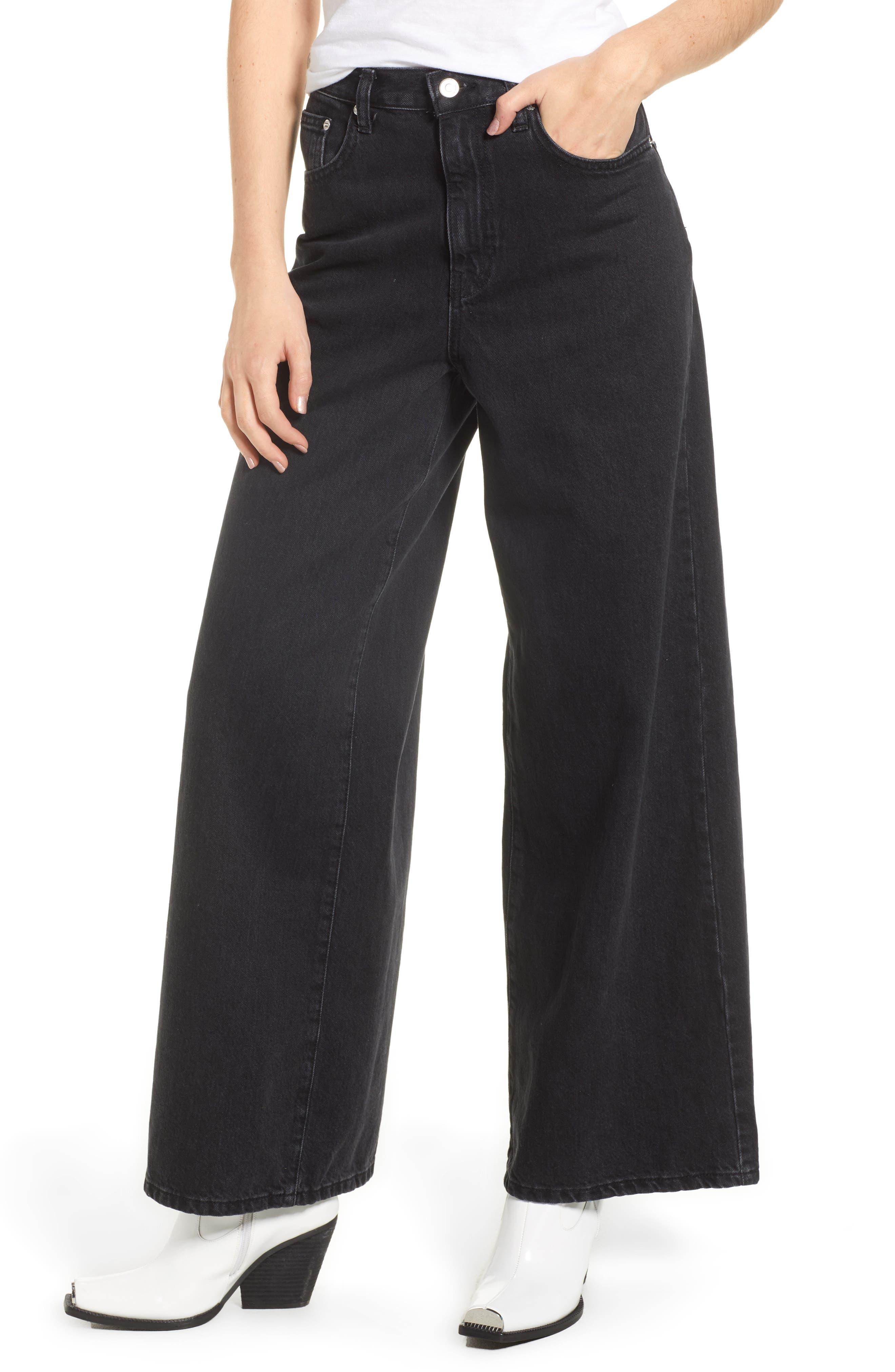 Mid Denim Wide Leg Jeans,                         Main,                         color,