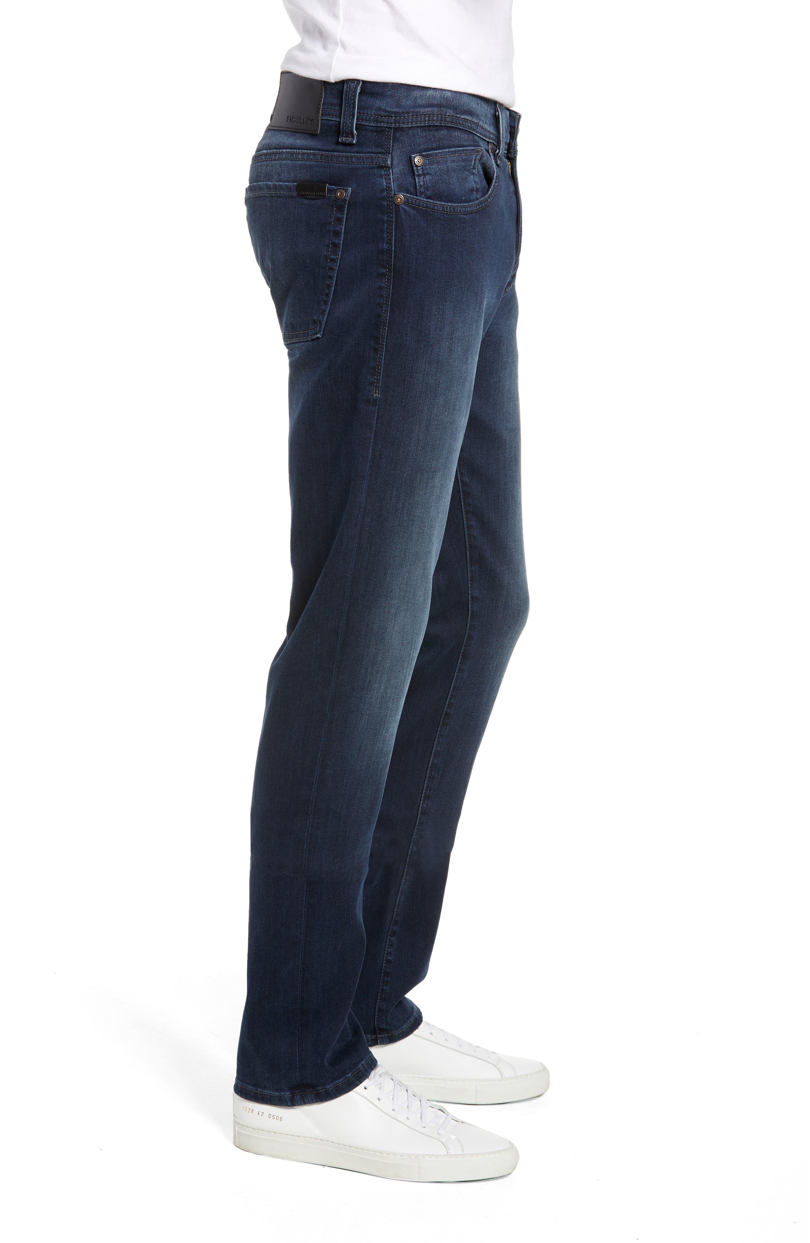 Fidelity Slim Straight Leg Jeans,                             Alternate thumbnail 3, color,                             BEL AIR BLUE