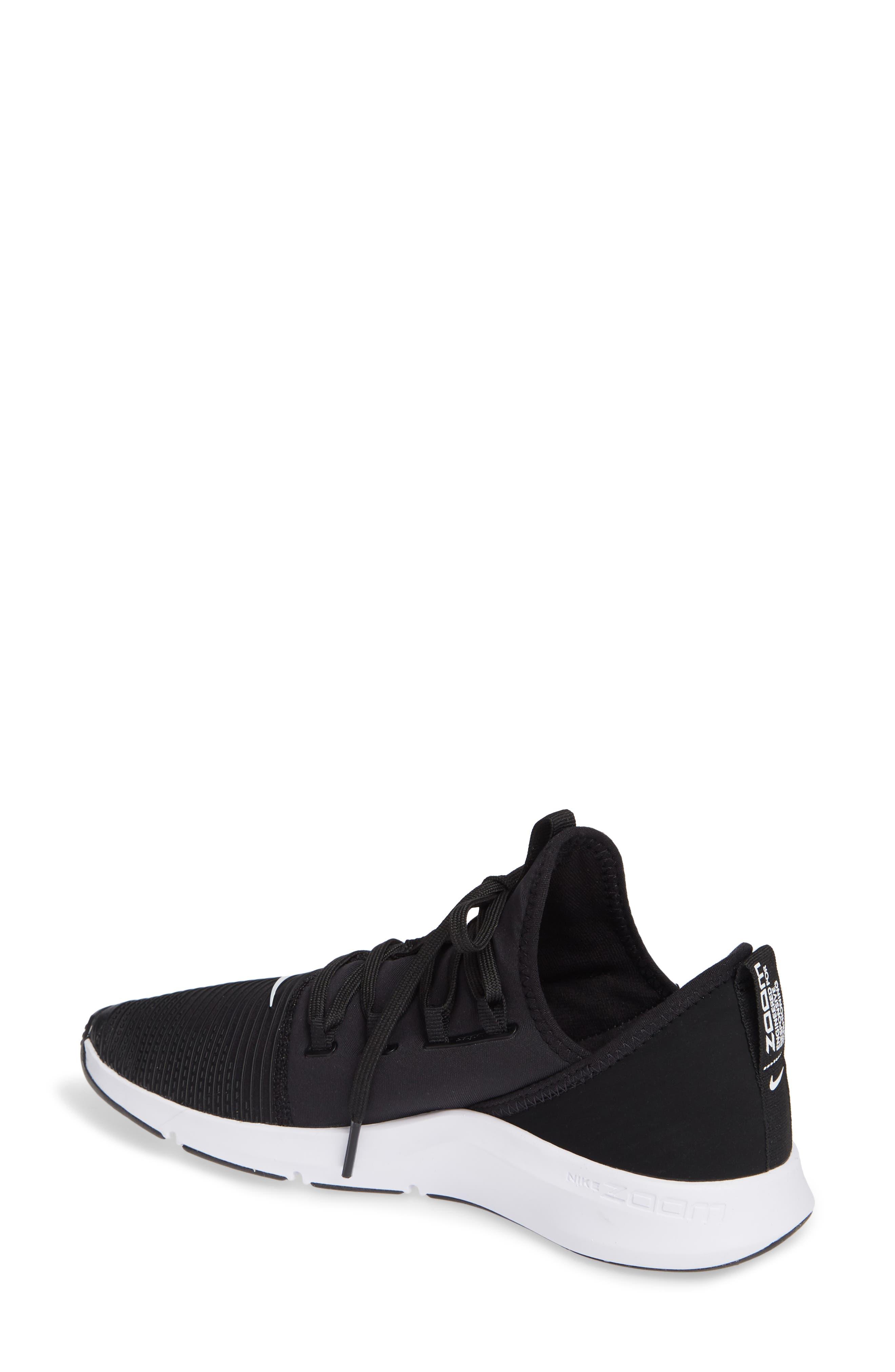 Air Zoom Elevate Training Shoe,                             Alternate thumbnail 2, color,                             BLACK/ WHITE