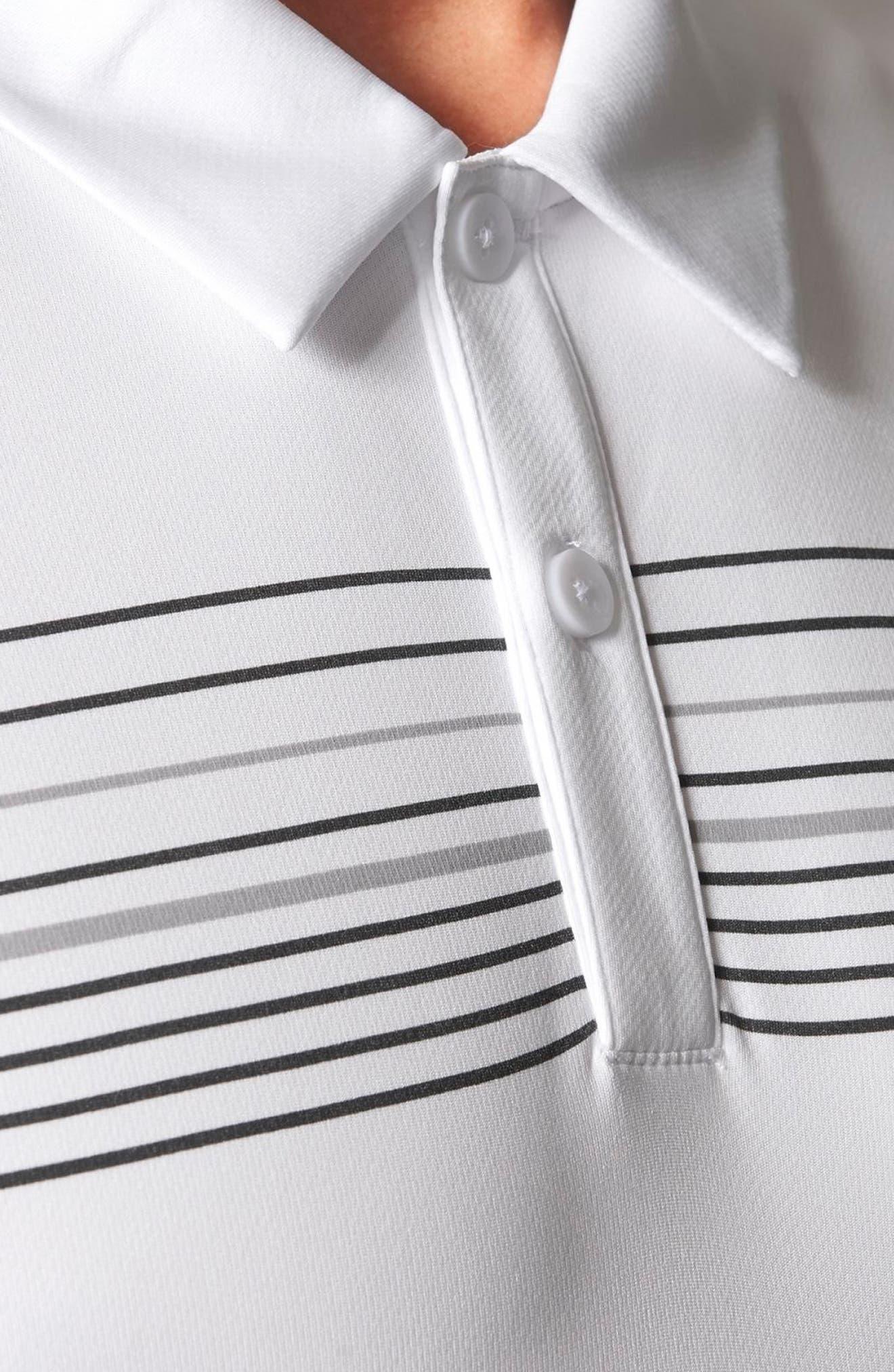 Chest Stripe Golf Polo,                             Alternate thumbnail 4, color,                             100