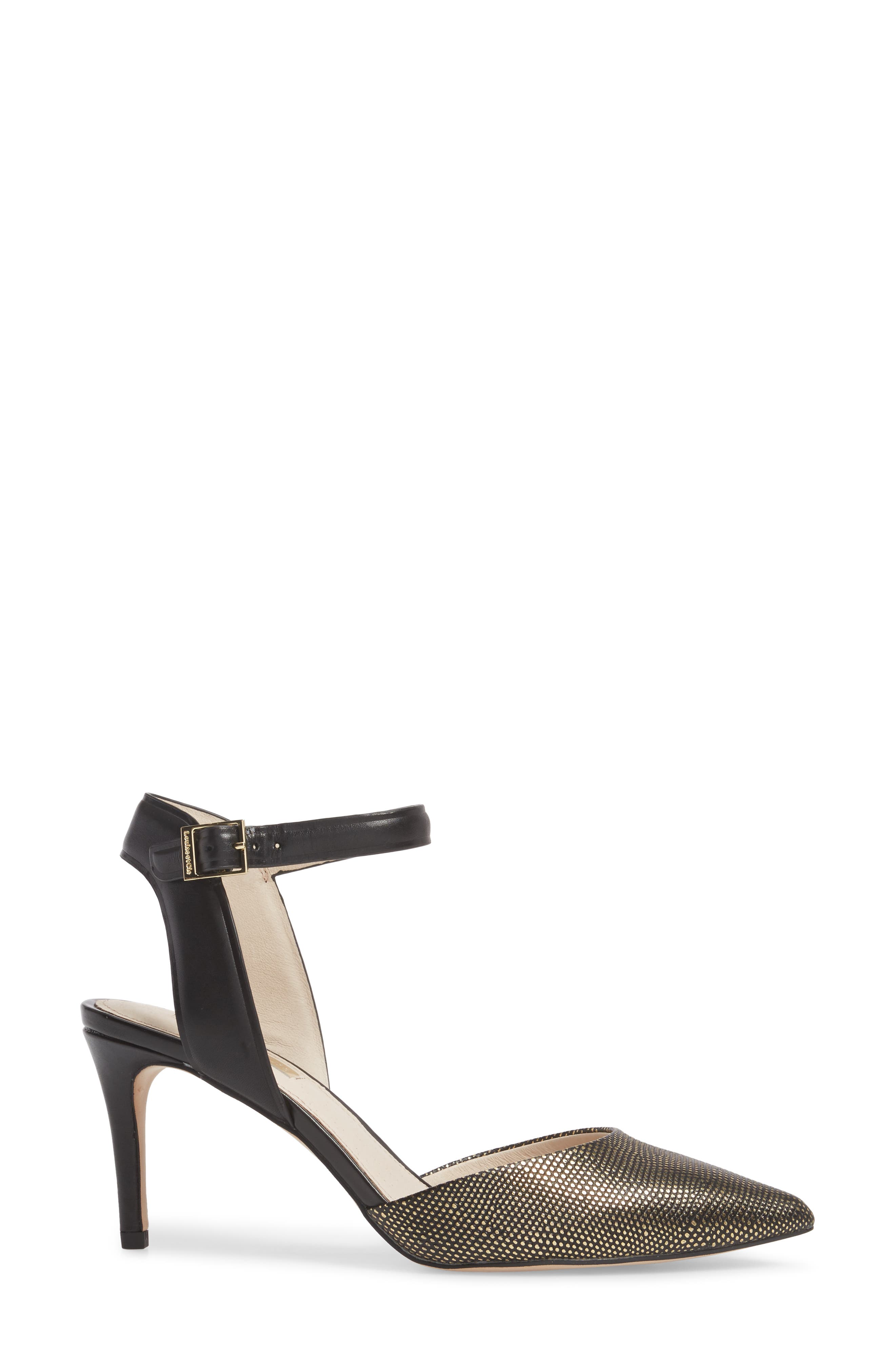 Kota Ankle Strap Pump,                             Alternate thumbnail 3, color,                             002