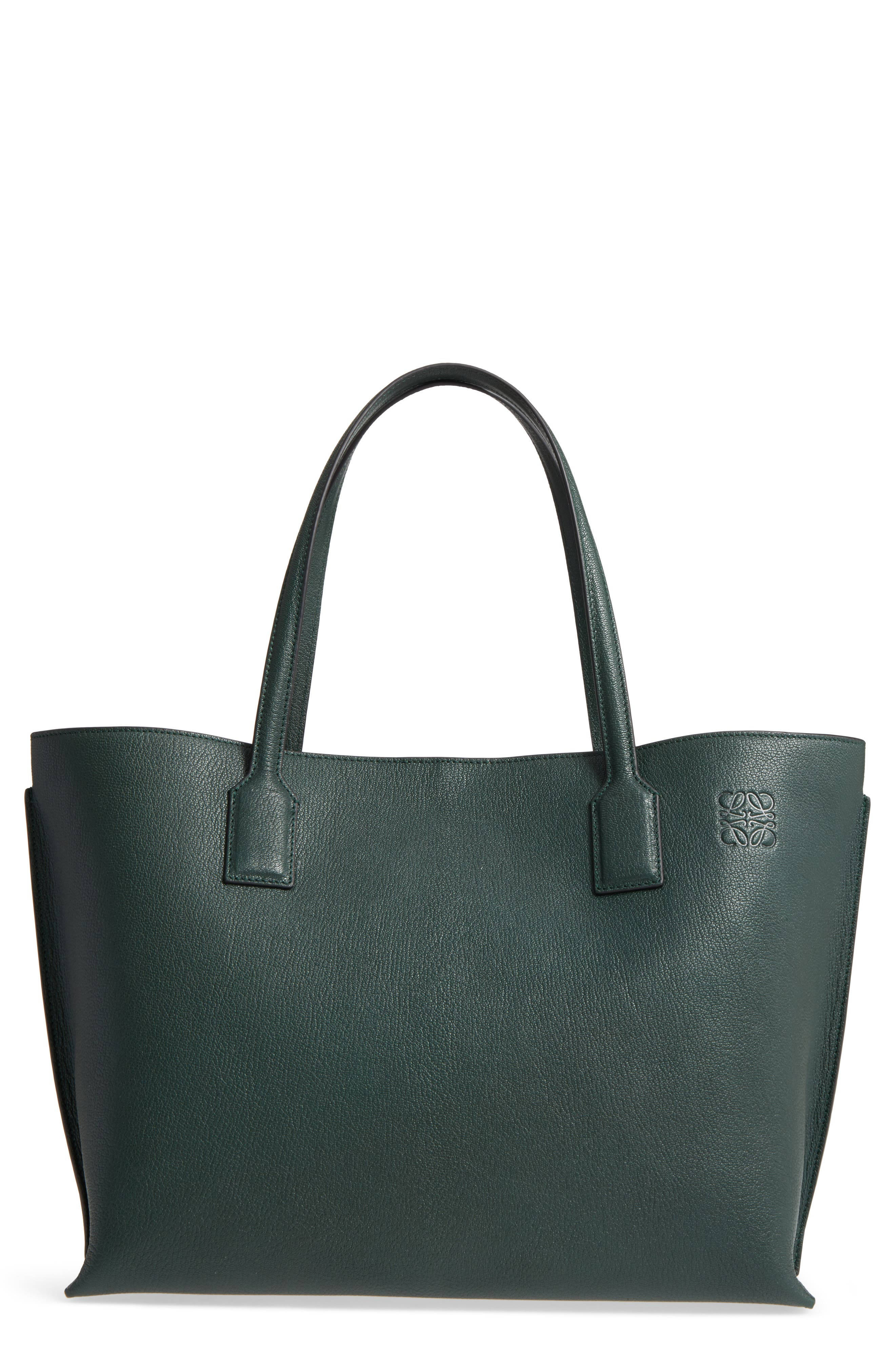 Large Leather T-Shopper,                         Main,                         color, 350