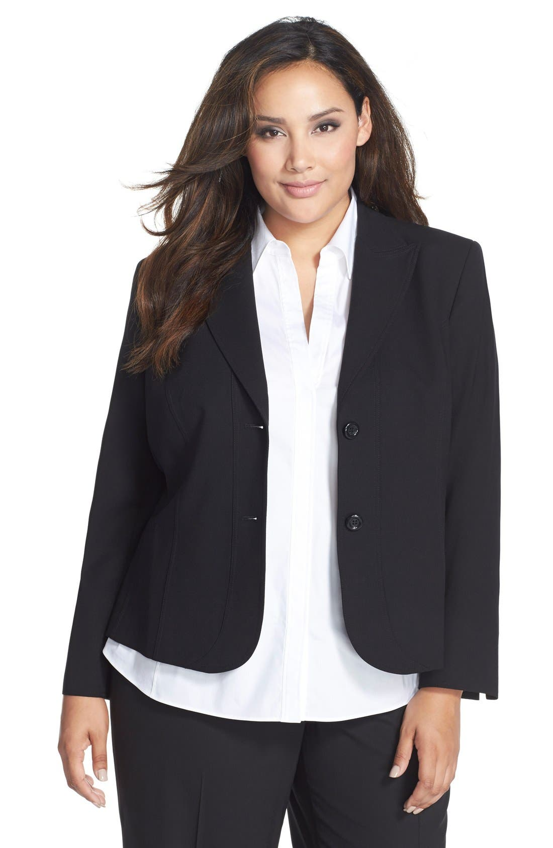 'Gladstone' Stretch Wool Jacket,                             Alternate thumbnail 6, color,                             001