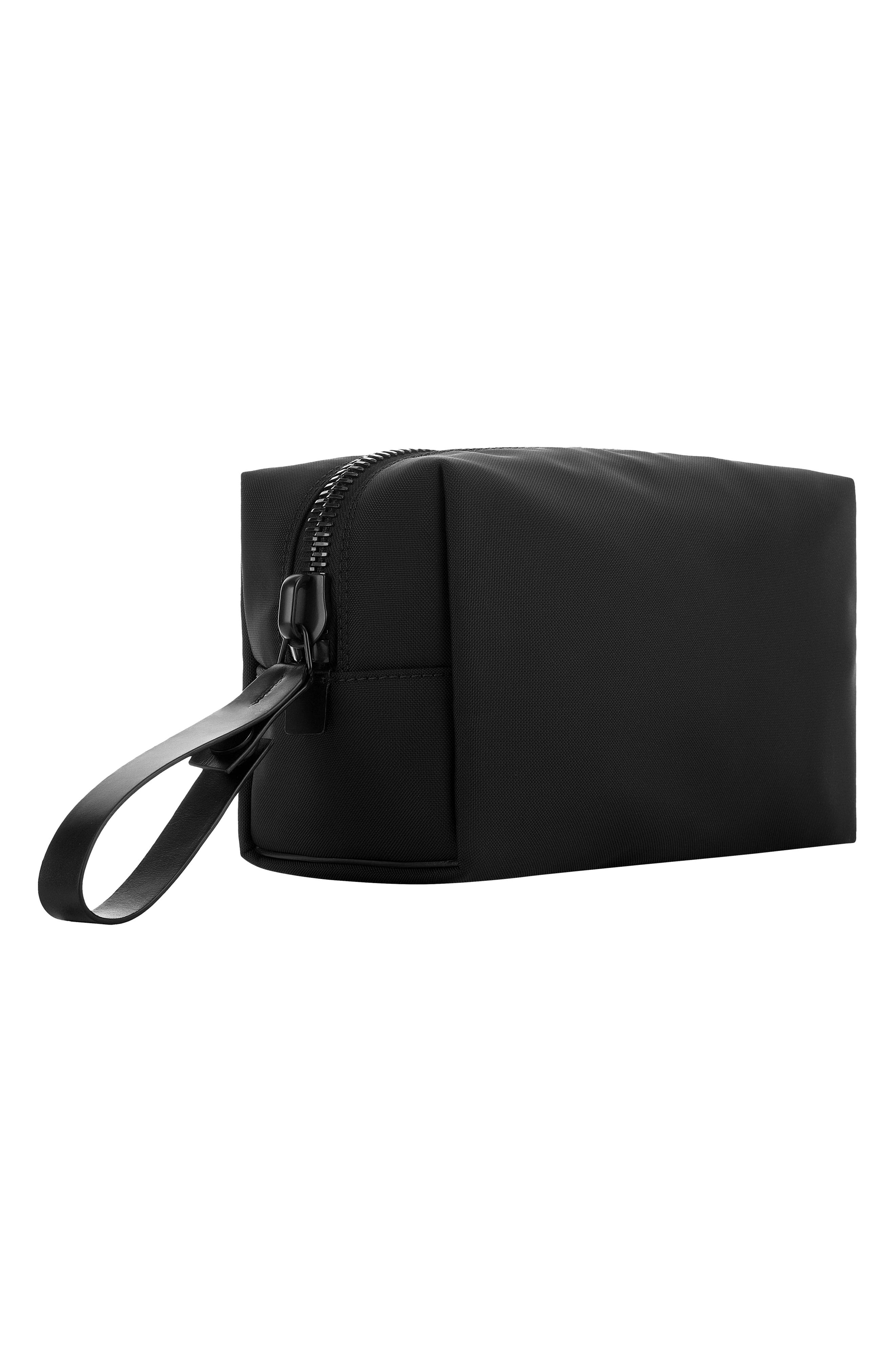 Nylon Dopp Kit,                             Alternate thumbnail 10, color,                             BLACK NYLON/ BLACK LEATHER
