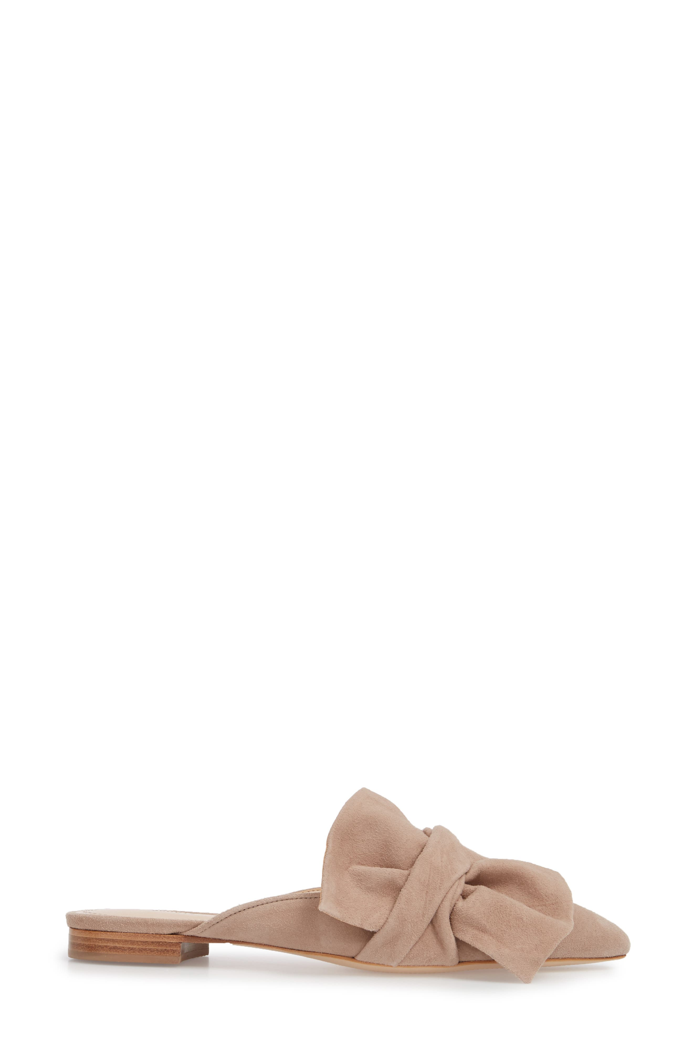 D'Ana Knotted Loafer Mule,                             Alternate thumbnail 3, color,                             NEUTRAL SUEDE