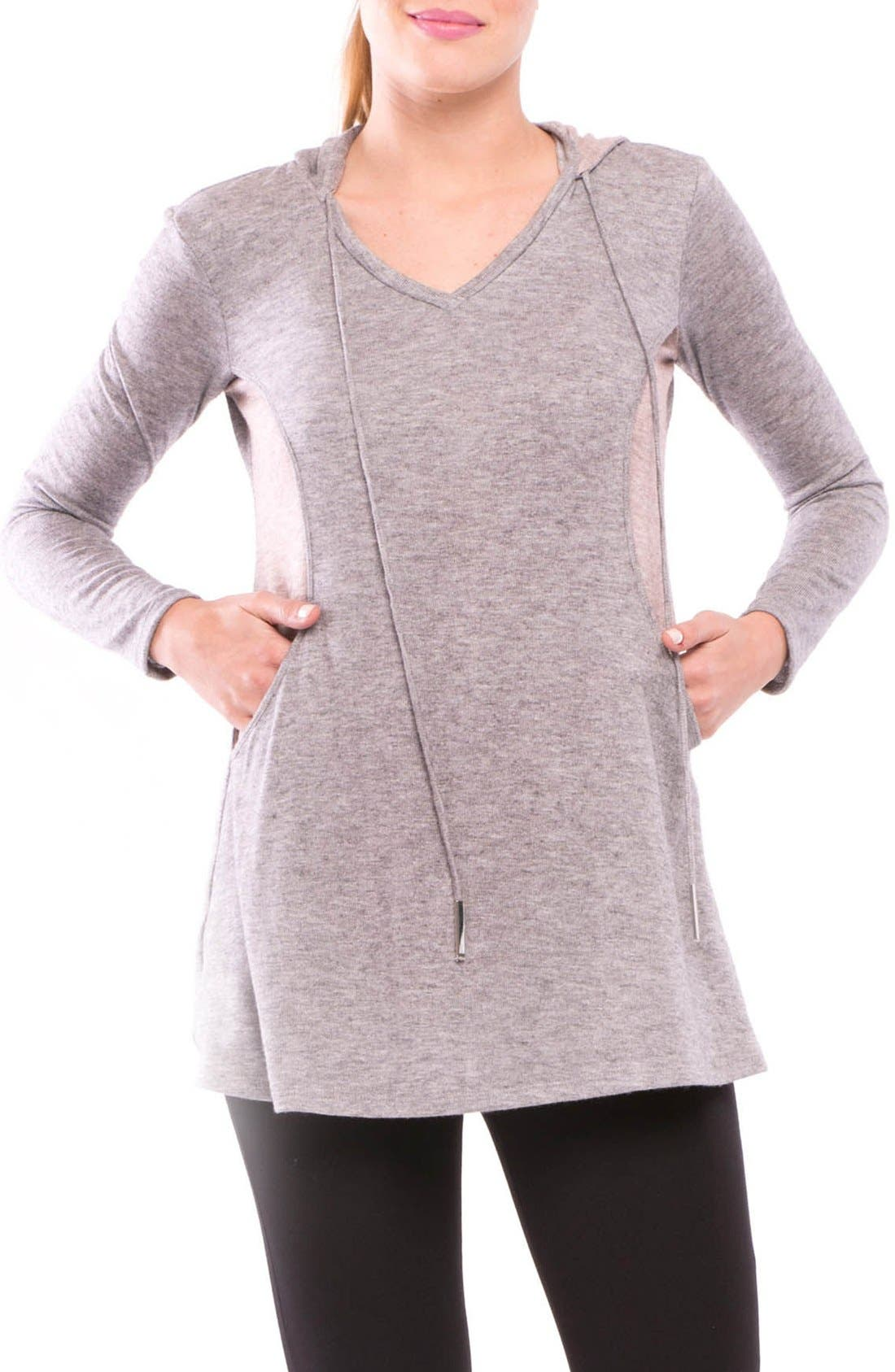 Olivia Maternity/Nursing Hoodie,                         Main,                         color, 020