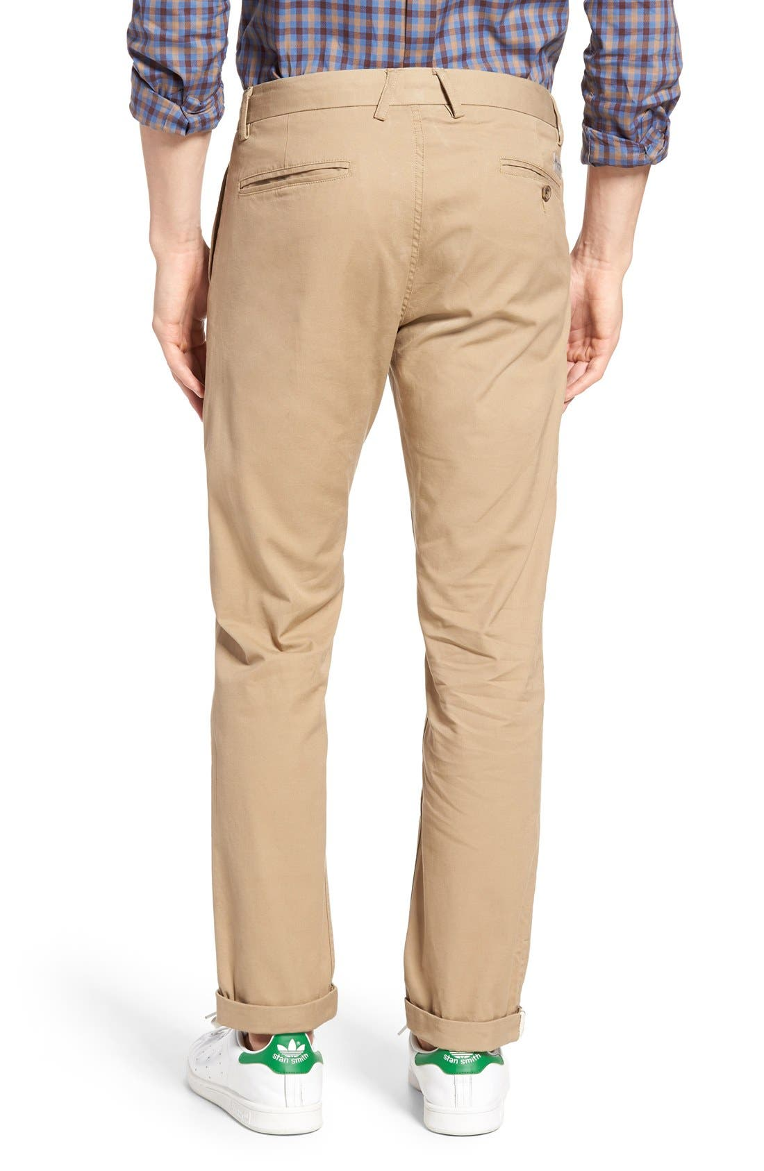 Slim Fit Stretch Chinos,                             Alternate thumbnail 67, color,
