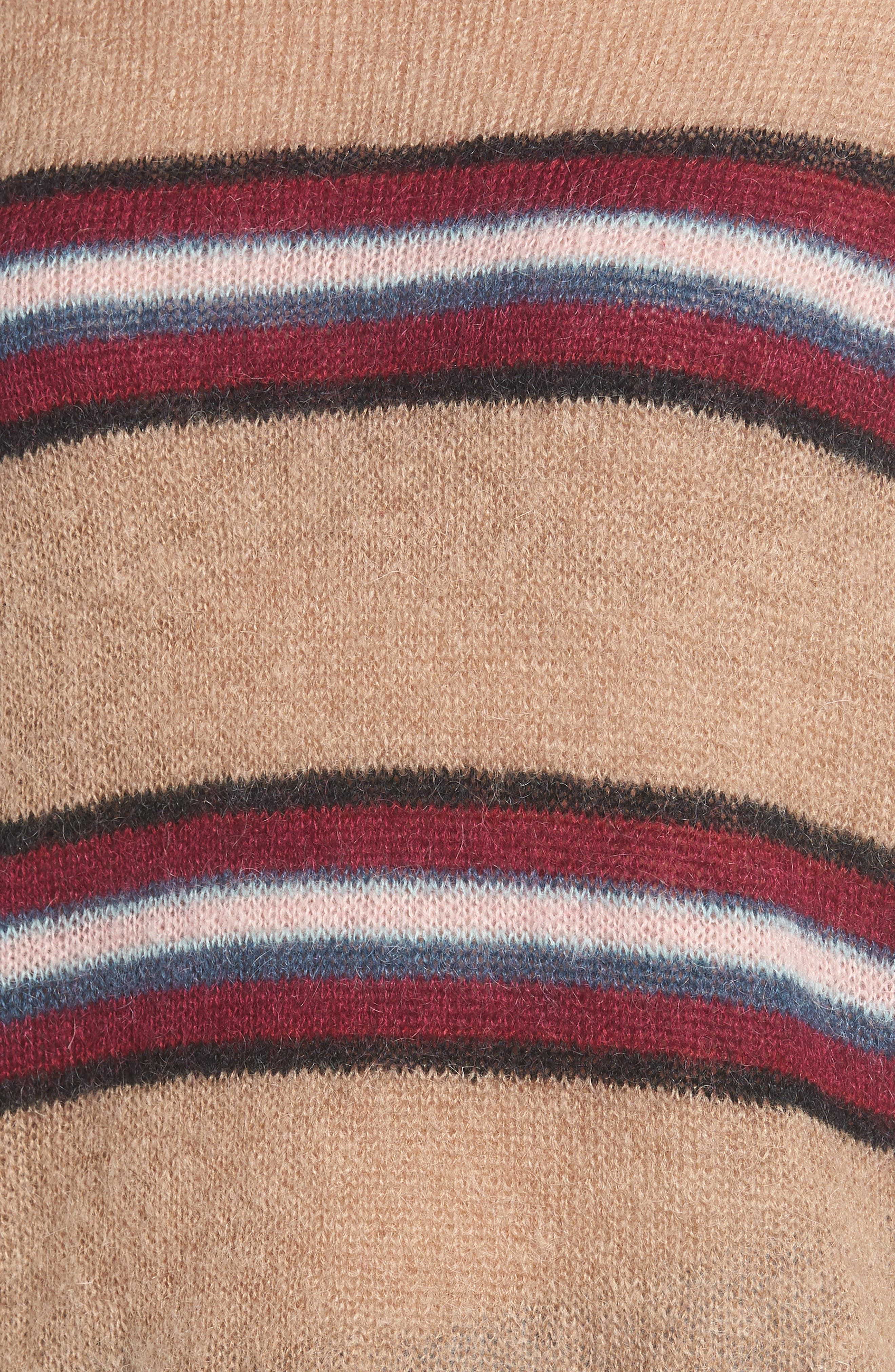 Ella Stripe Turtleneck Sweater,                             Alternate thumbnail 5, color,                             250