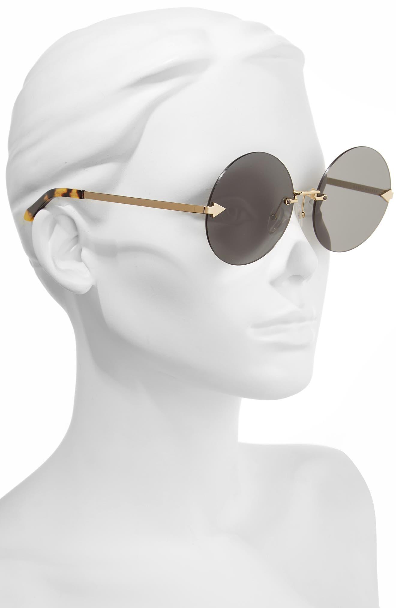 Disco Circus 60mm Rimless Round Sunglasses,                             Alternate thumbnail 6, color,