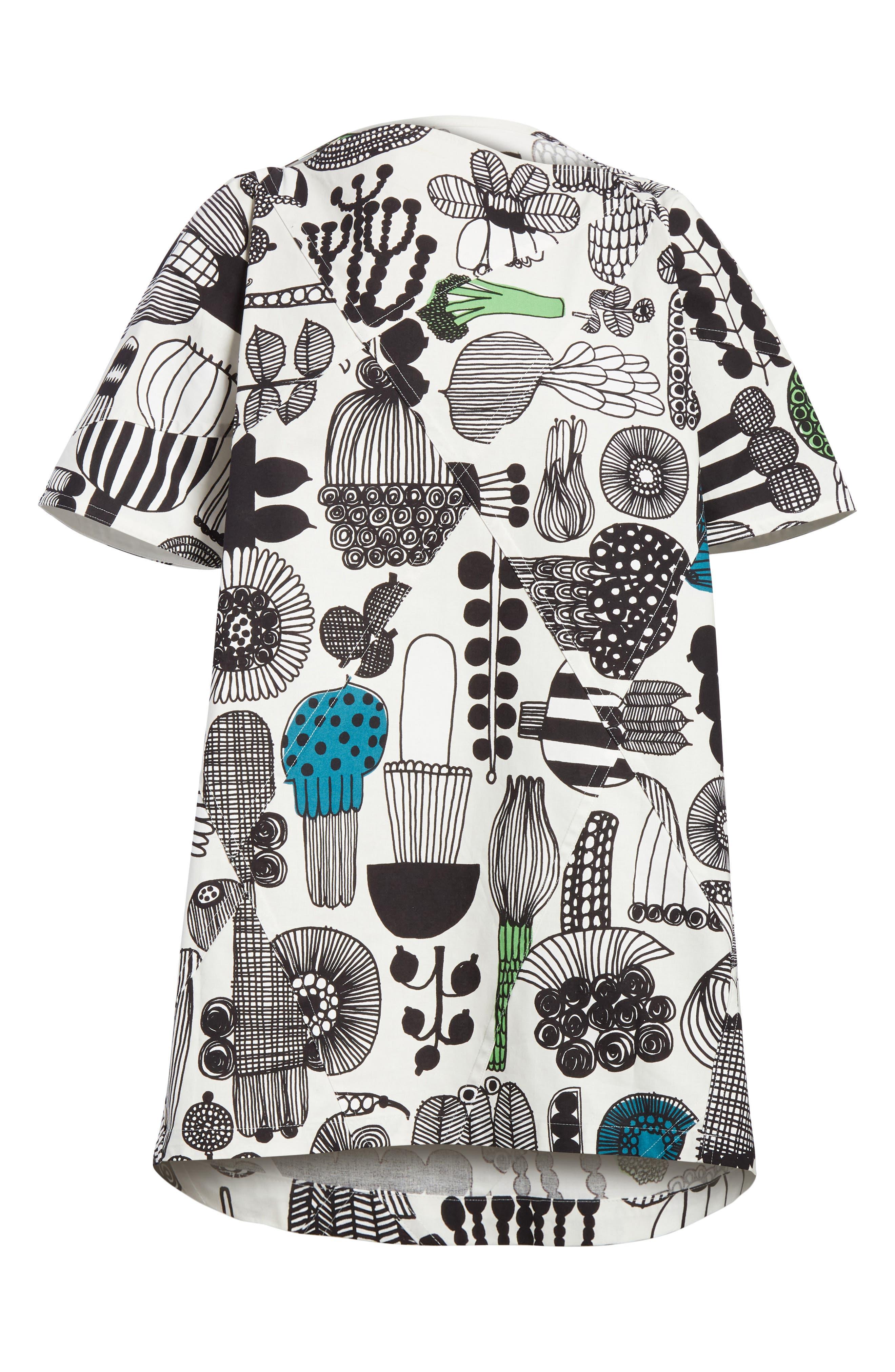 Vegetable Print Dress,                             Alternate thumbnail 6, color,