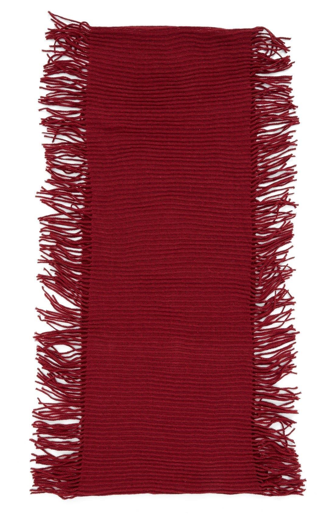 Rib Knit Fringe Infinity Scarf,                             Alternate thumbnail 18, color,