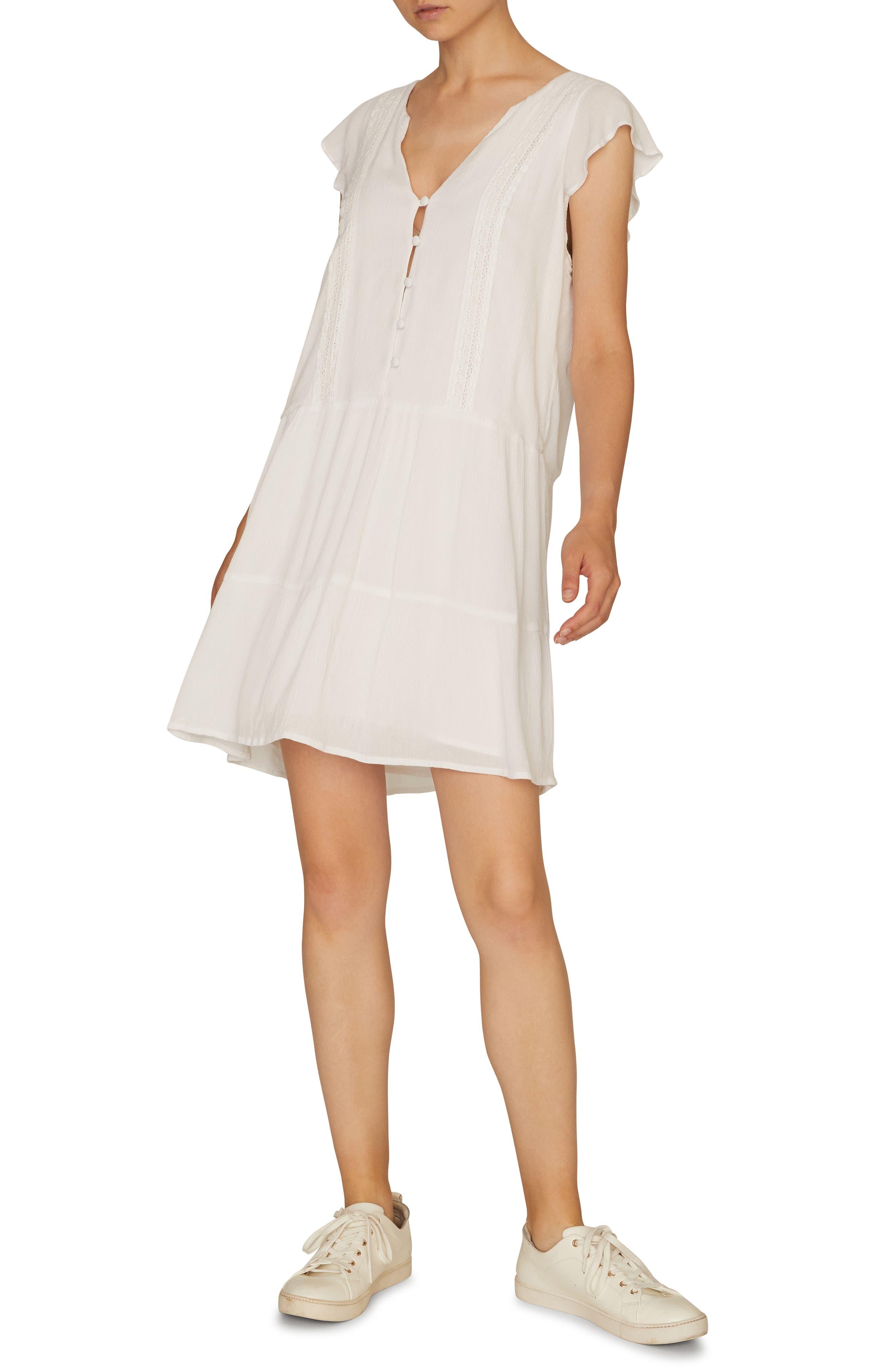 Sanctuary Free Love Tiered Shift Dress, White