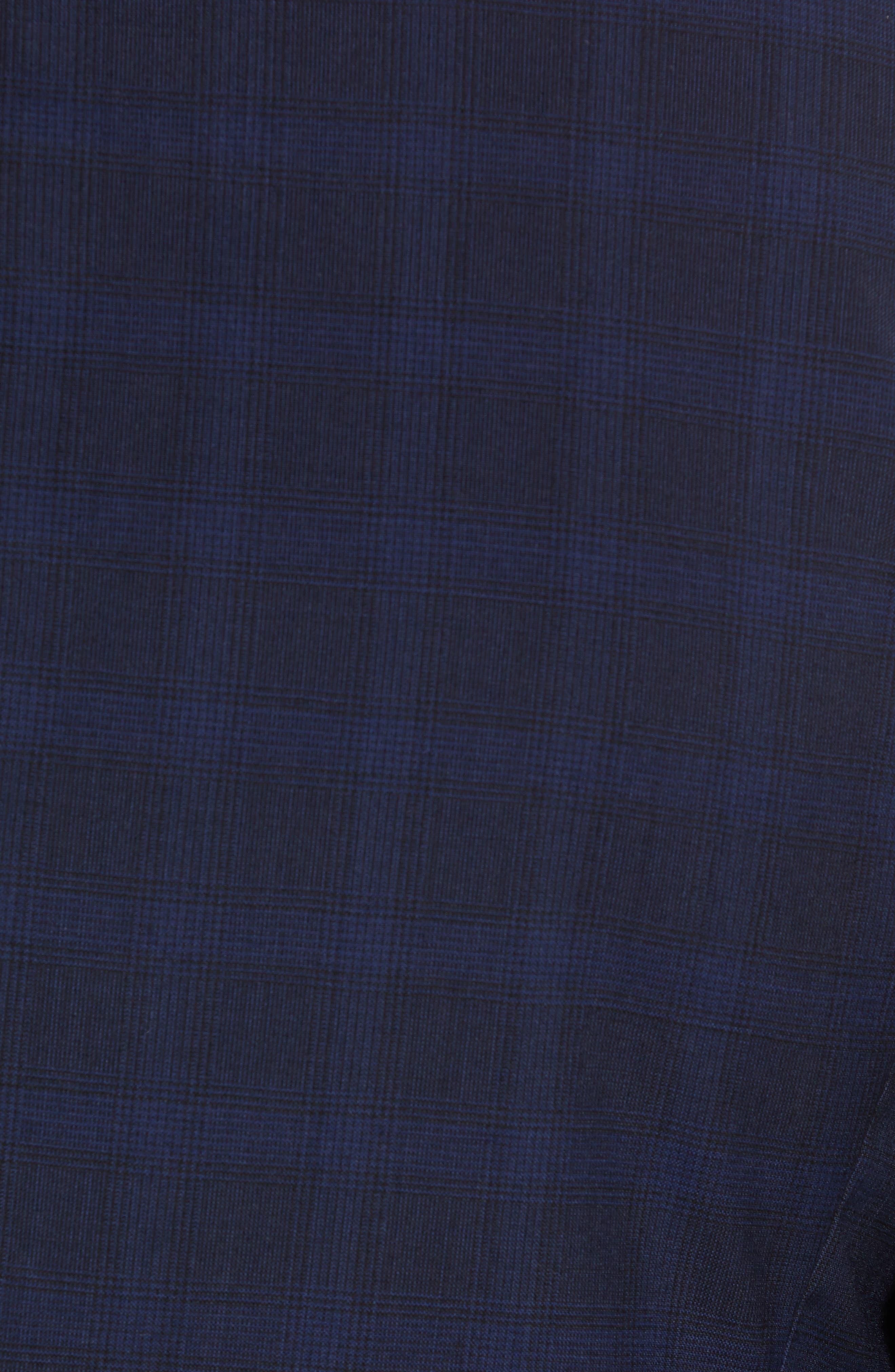Slim Fit Check Blazer,                             Alternate thumbnail 5, color,                             BLUE