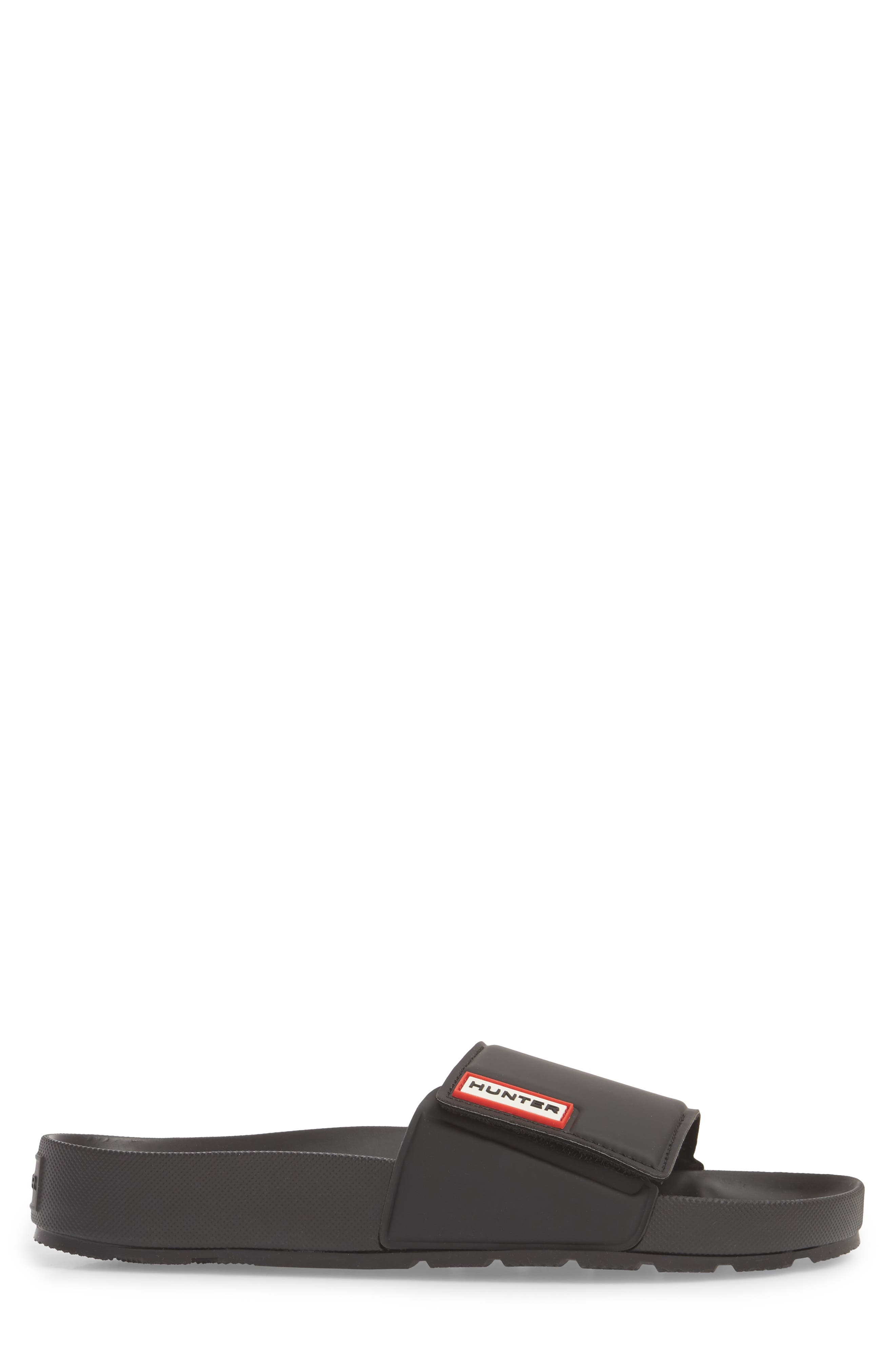 Original Adjustable Slide Sandal,                             Alternate thumbnail 3, color,                             BLACK