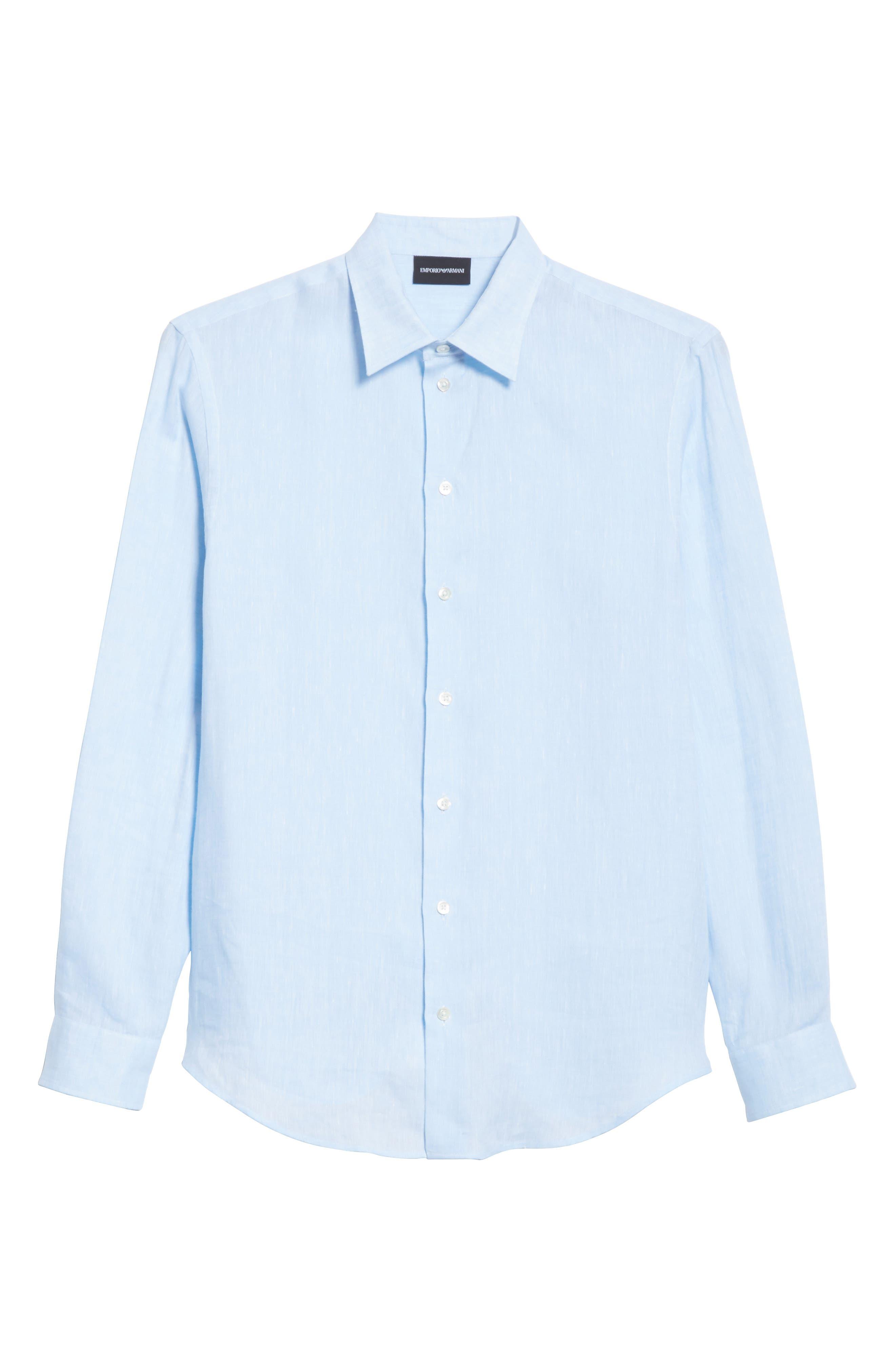 Regular Fit Linen Dress Shirt,                             Alternate thumbnail 12, color,