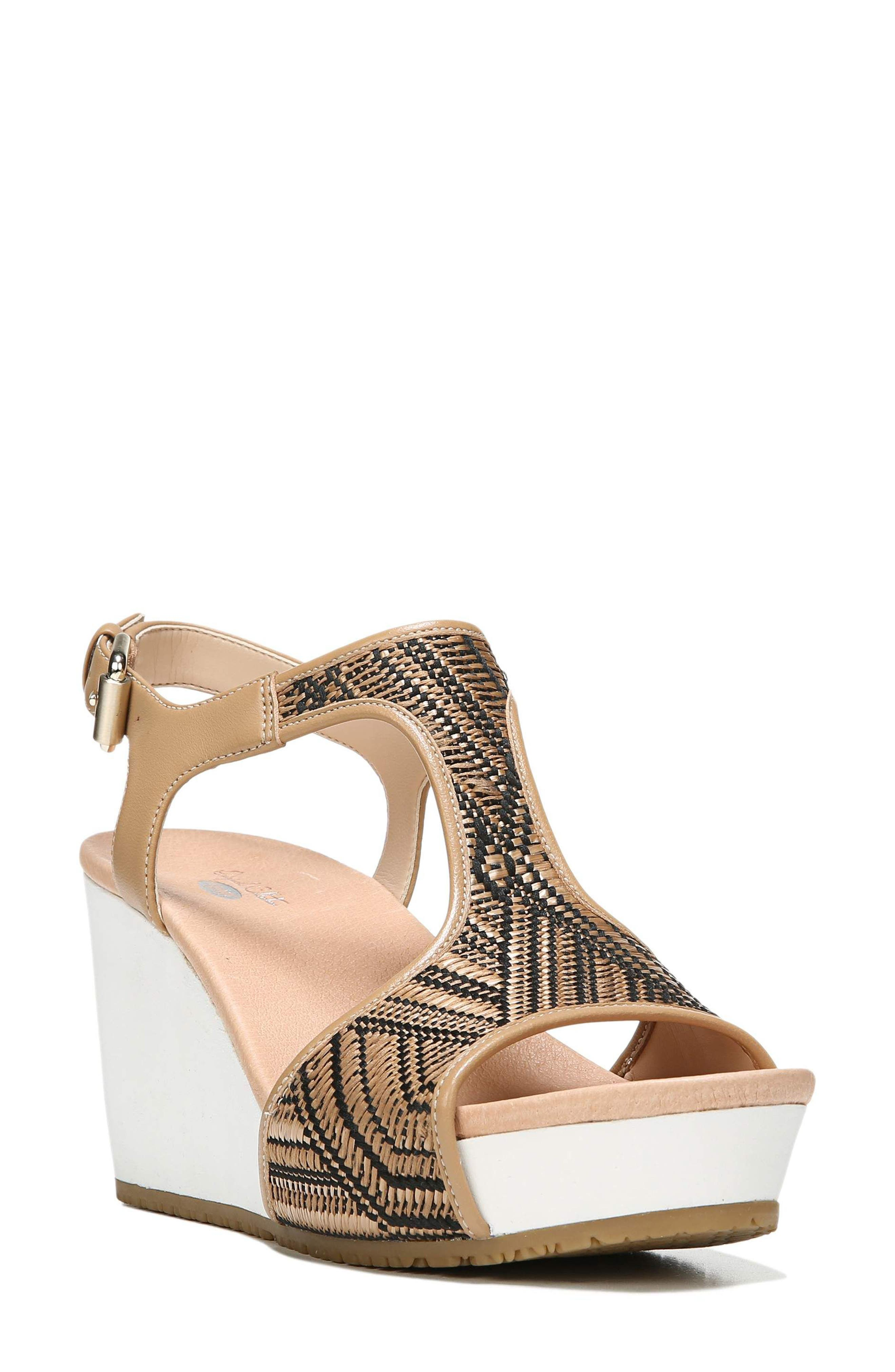 'Original Collection Wiley' Wedge Sandal,                             Main thumbnail 1, color,                             NUDE
