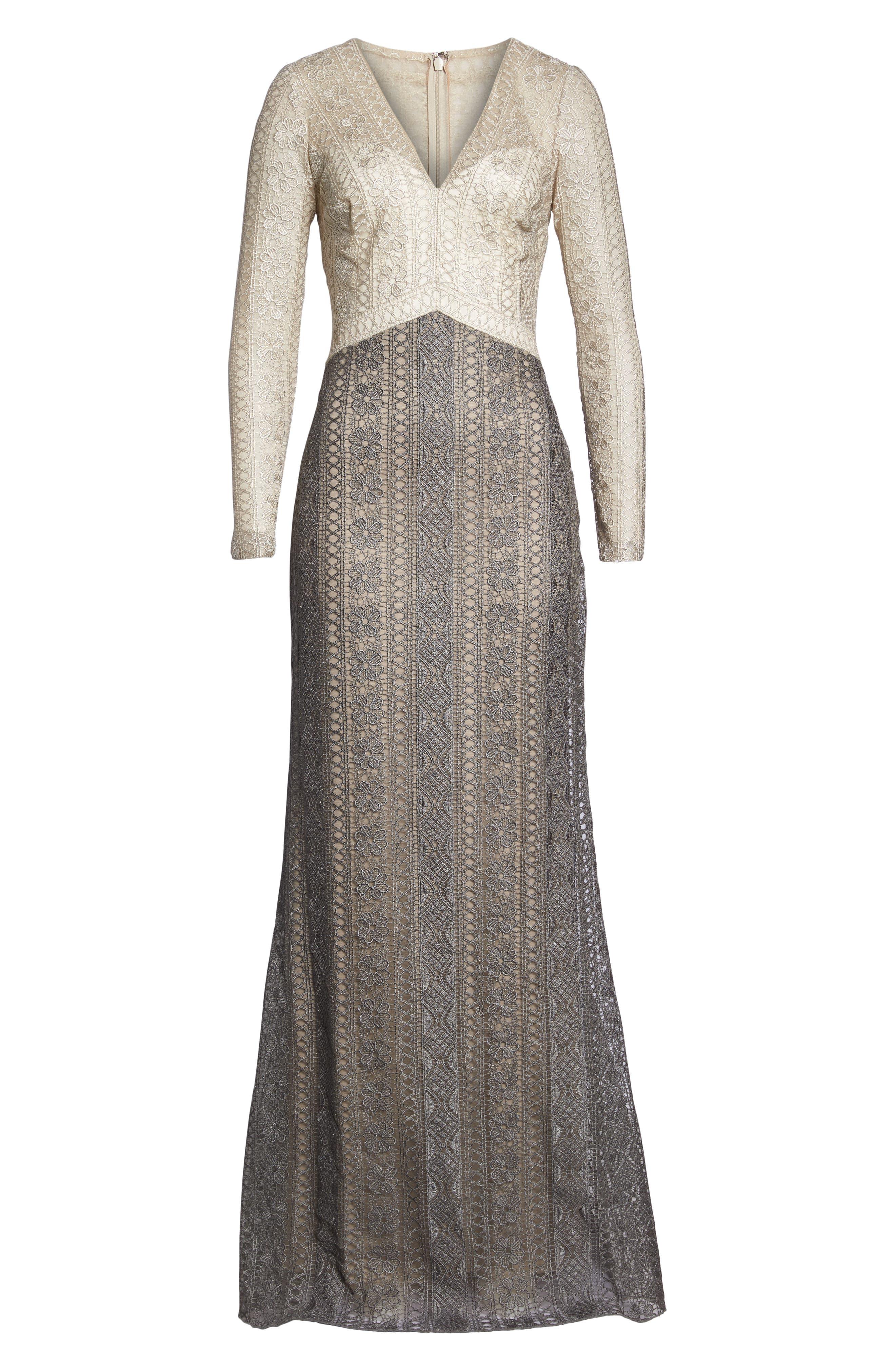 Lace Gown,                             Alternate thumbnail 7, color,                             LATTE/ SMOKE