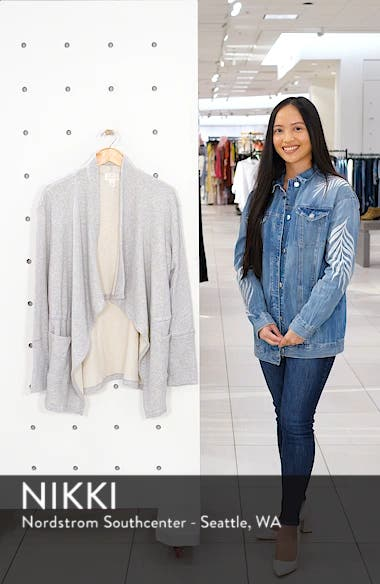 Asymmetrical Drape Collar Terry Jacket, sales video thumbnail