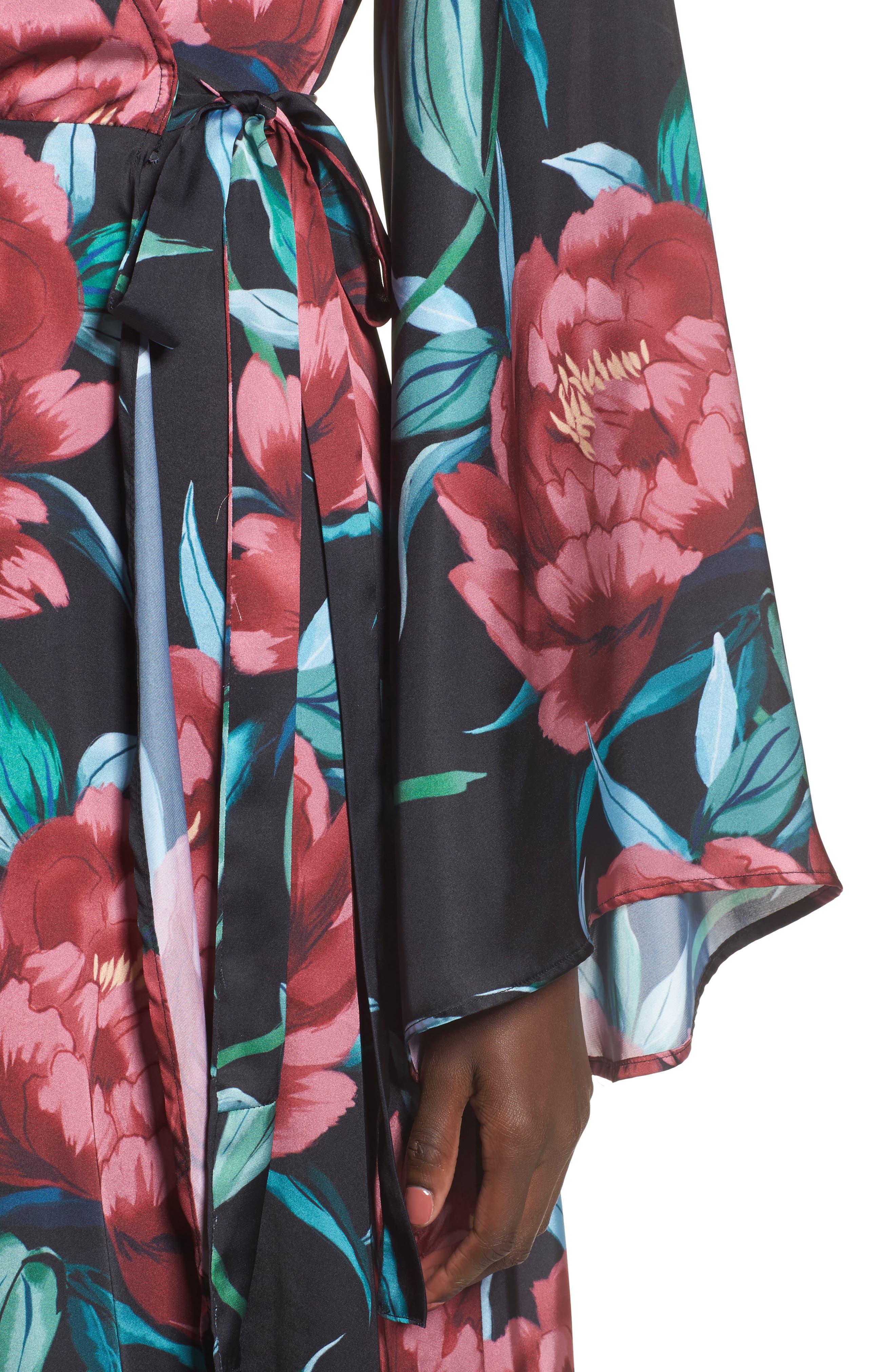 Anita Wrap Maxi Dress,                             Alternate thumbnail 8, color,