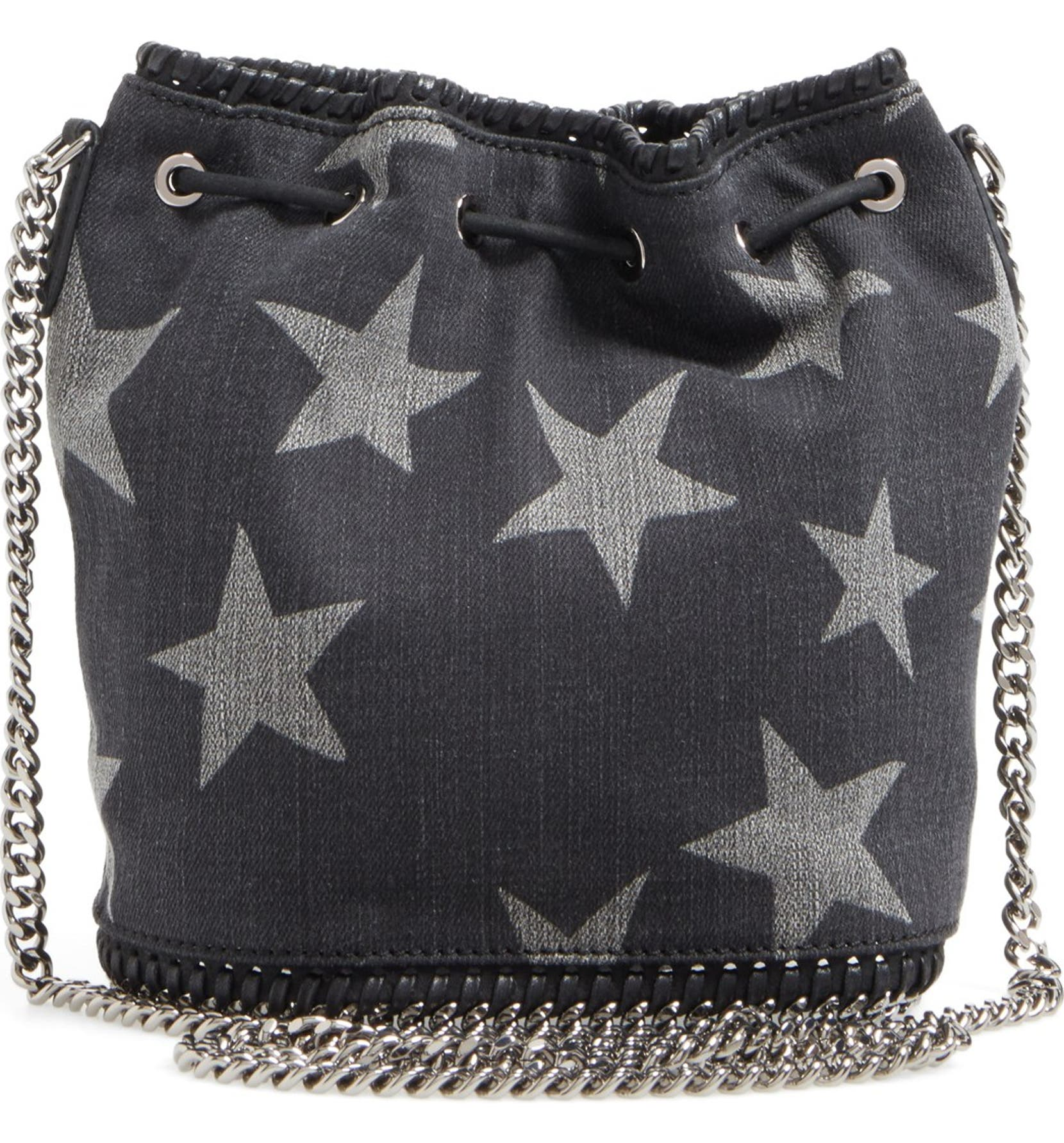 Stella McCartney  Falabella  Star Print Denim Bucket Bag  cb5cc57d1c493