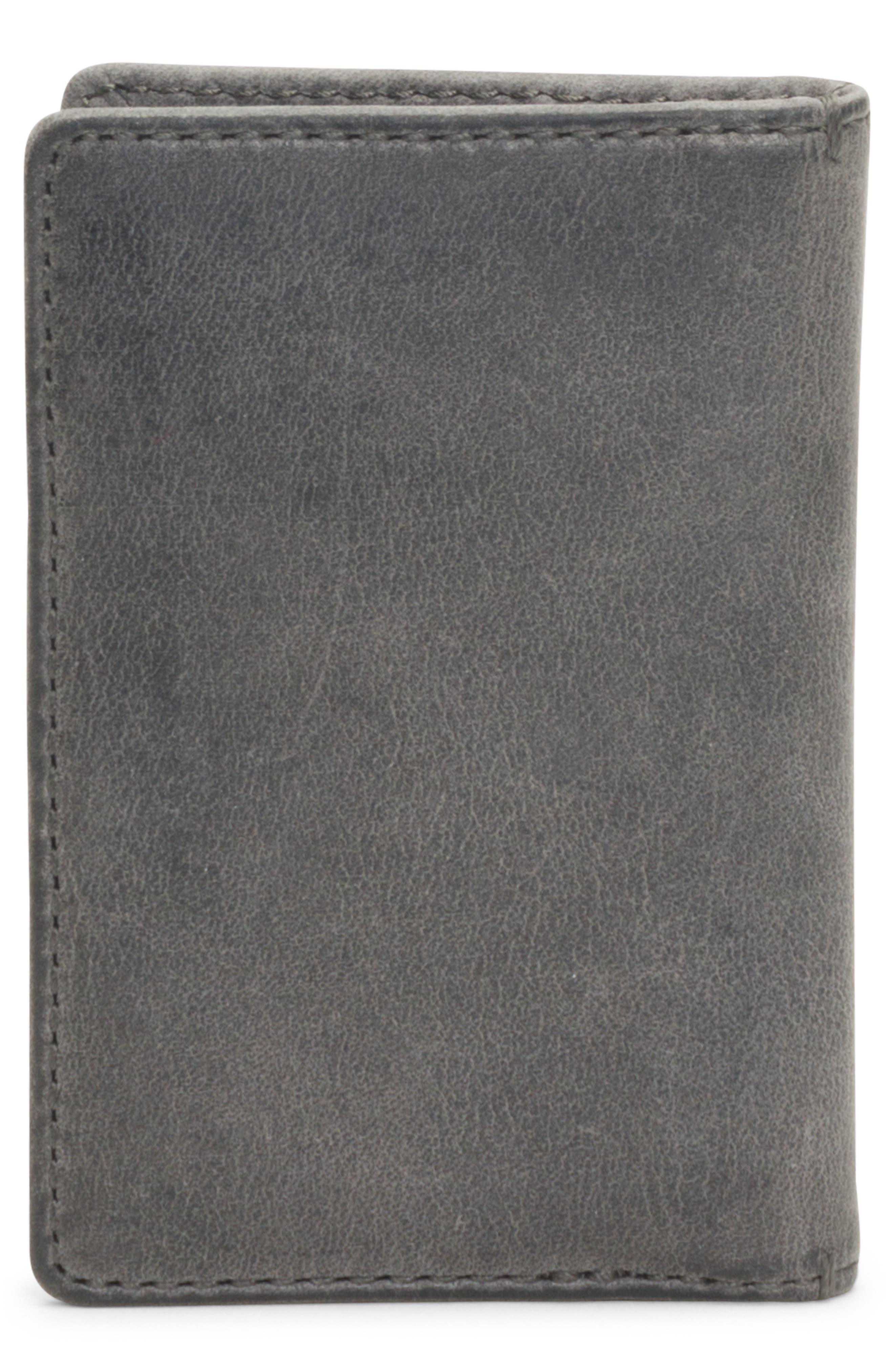 Oliver Leather Wallet,                             Alternate thumbnail 3, color,                             SLATE