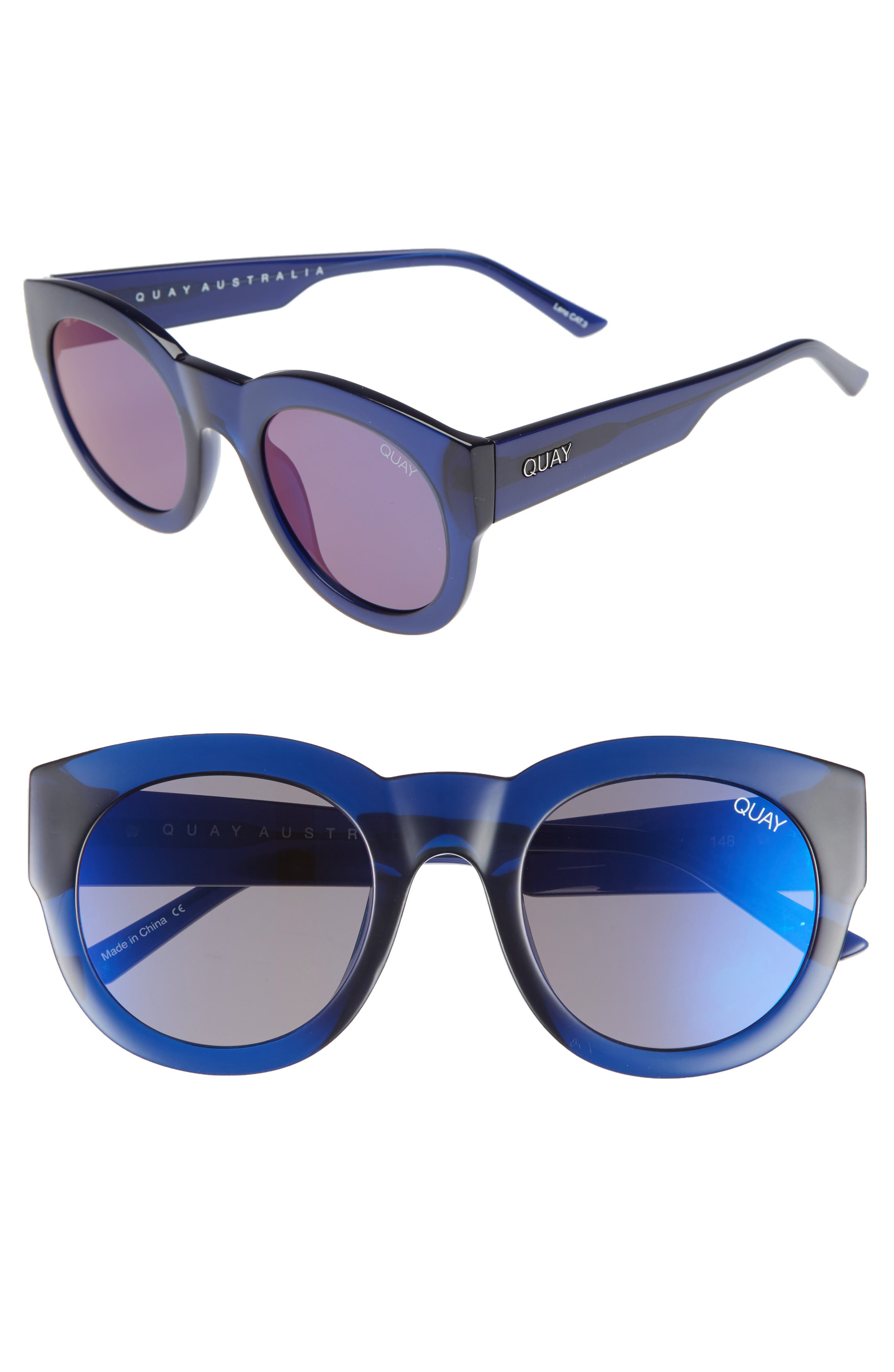 If Only 50mm Round Sunglasses,                             Main thumbnail 2, color,