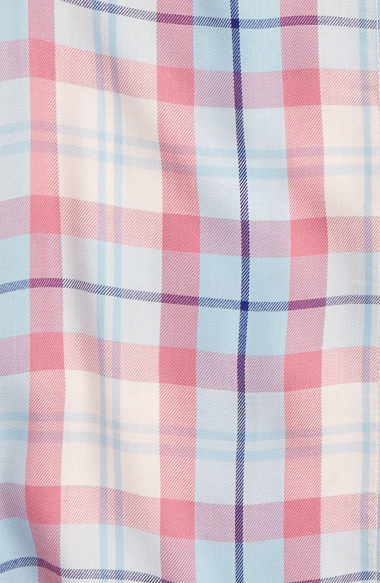 Fire Plaid Woven Shirt,                             Alternate thumbnail 6, color,