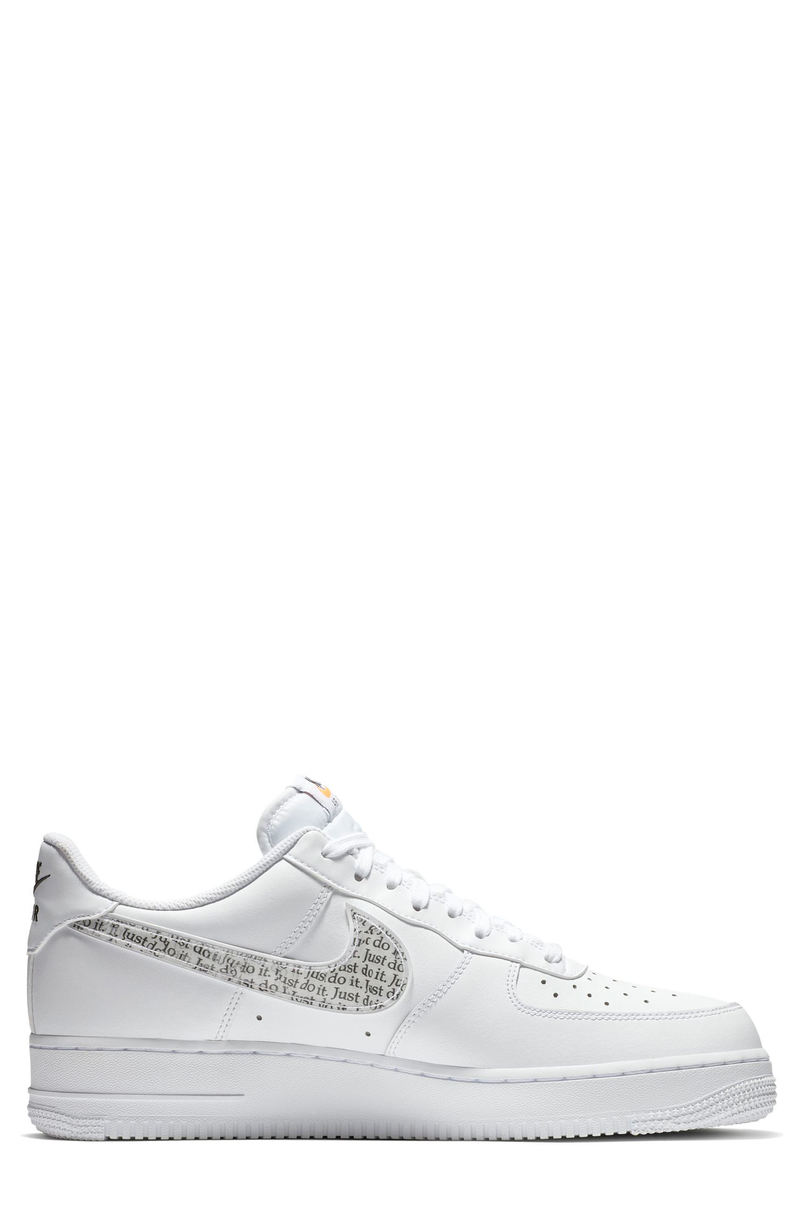 Air Force 1 '07 LV8 Just Do It Sneaker,                             Alternate thumbnail 2, color,                             100
