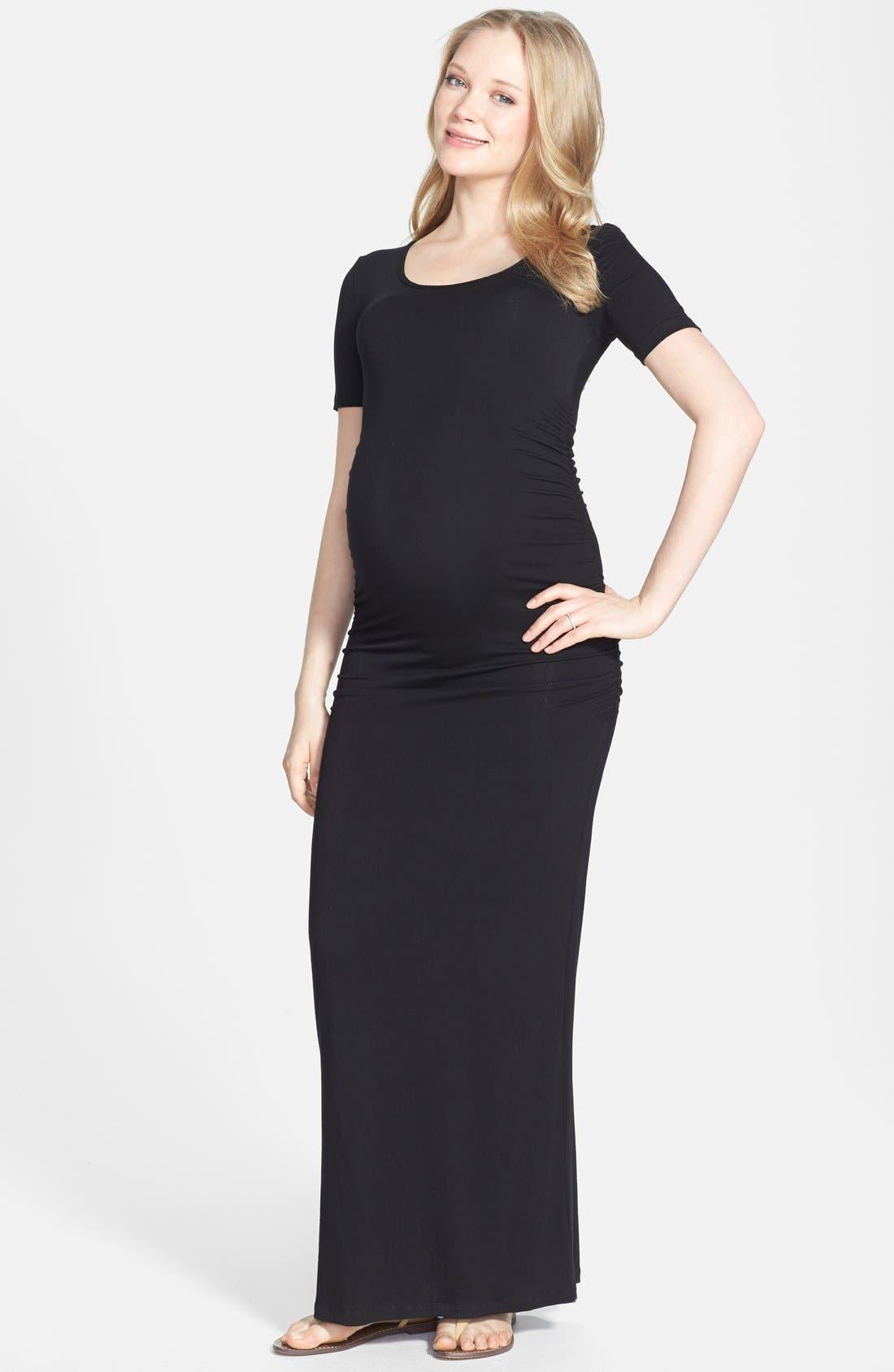 'Heidi' Maxi Maternity Dress,                             Main thumbnail 1, color,