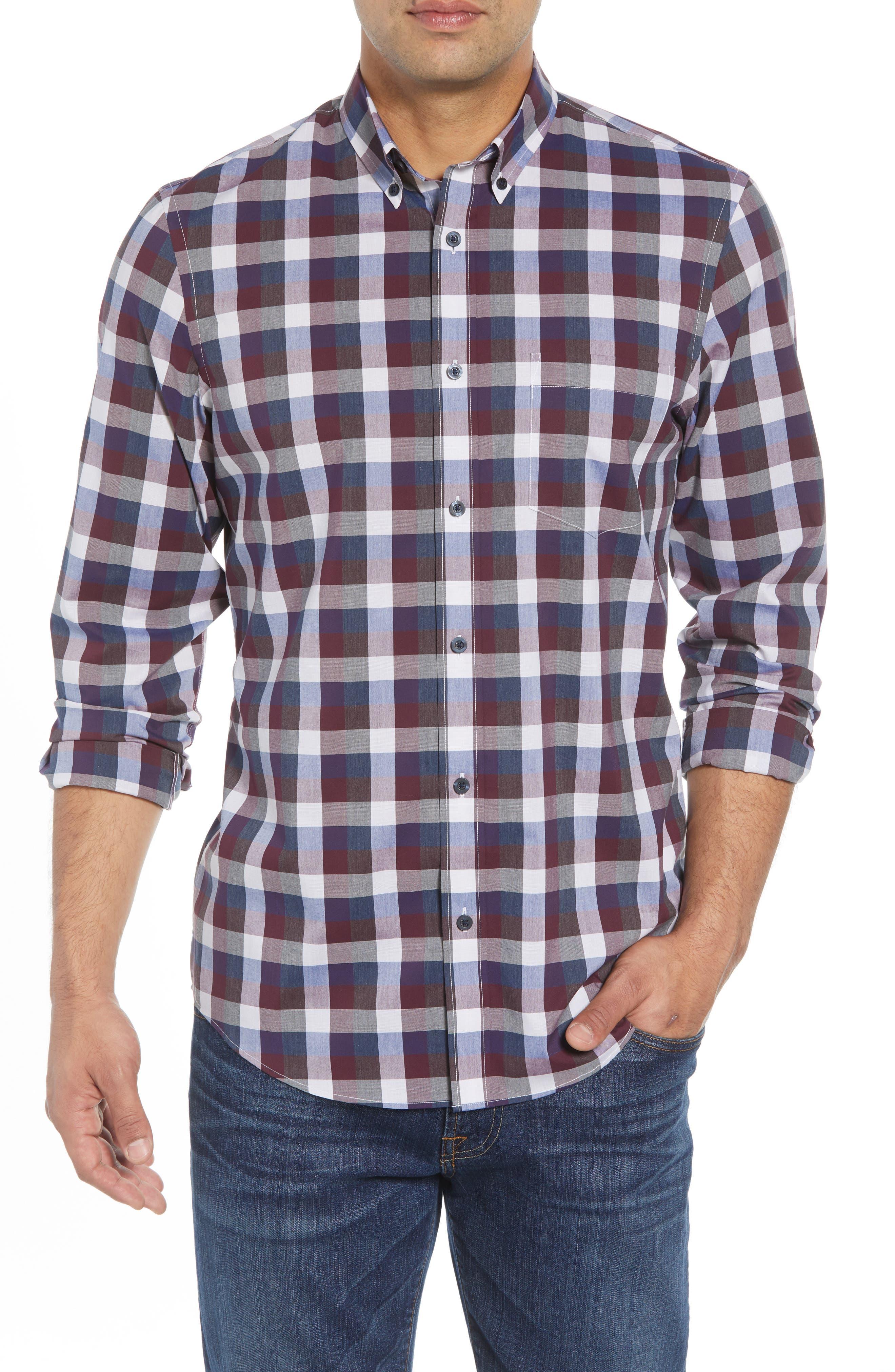 Nordstrom Shop Tech-Smart Regular Fit Check Sport Shirt