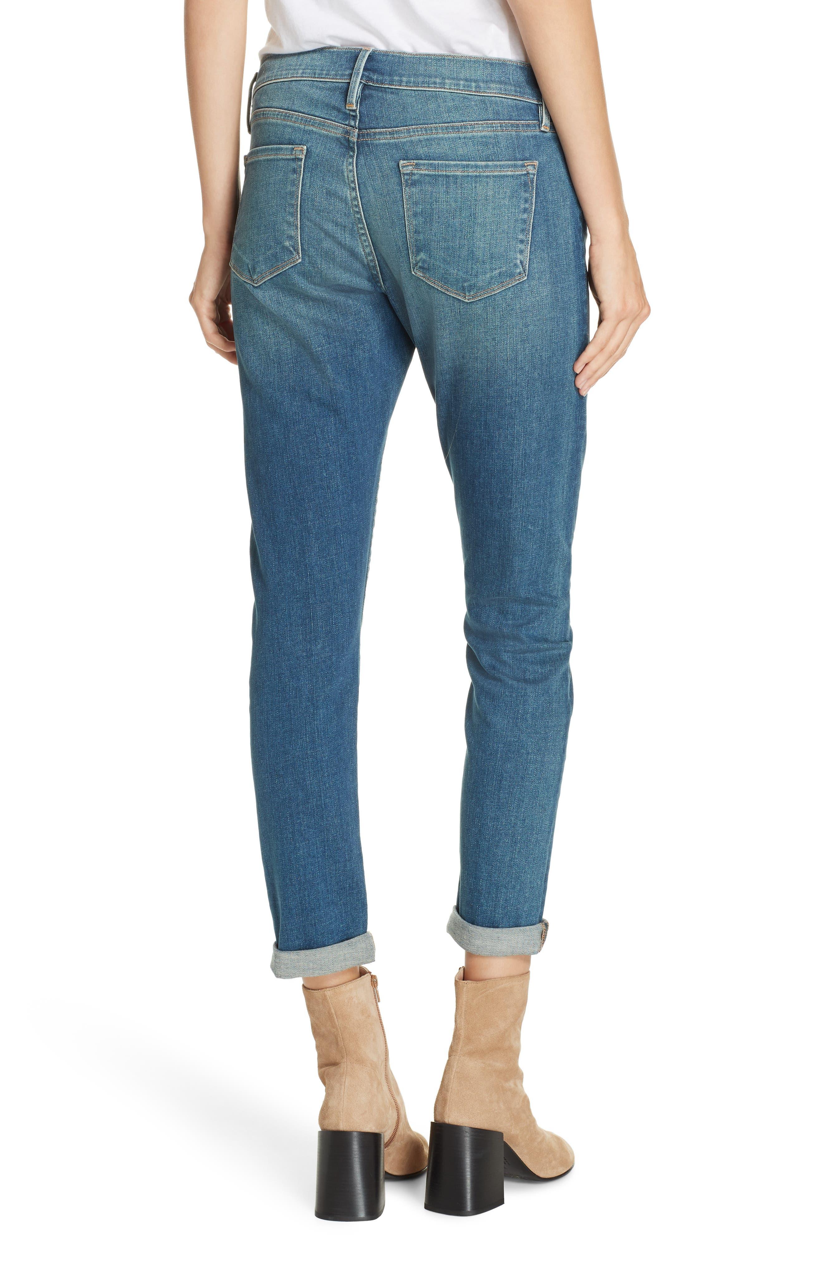 Le Garcon Slim Boyfriend Jeans,                             Alternate thumbnail 2, color,                             BERKLEY SQUARE