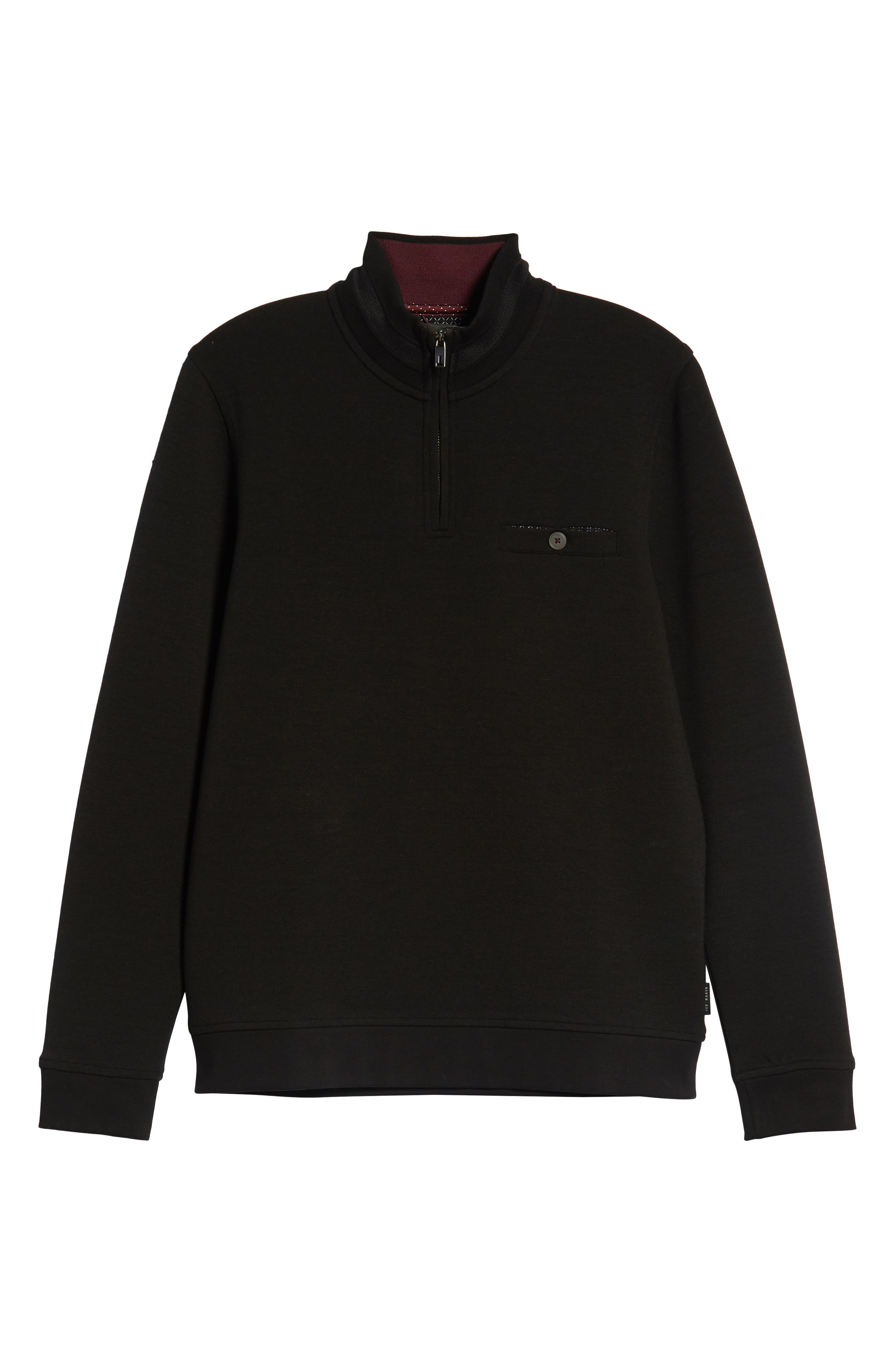 Peper Trim Fit Half Zip Pullover,                             Alternate thumbnail 6, color,                             001