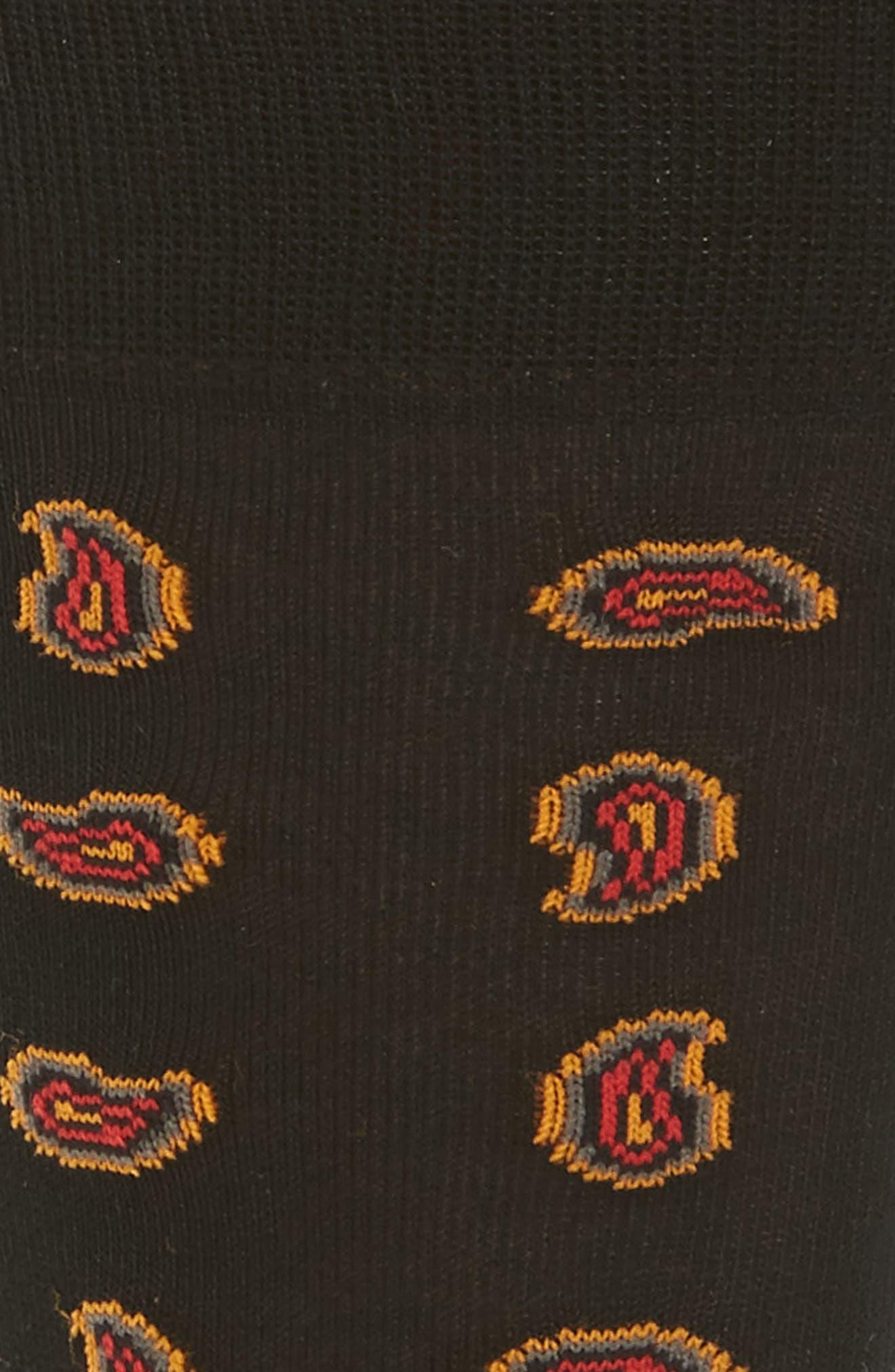 Mini Paisley Socks,                             Alternate thumbnail 2, color,                             007